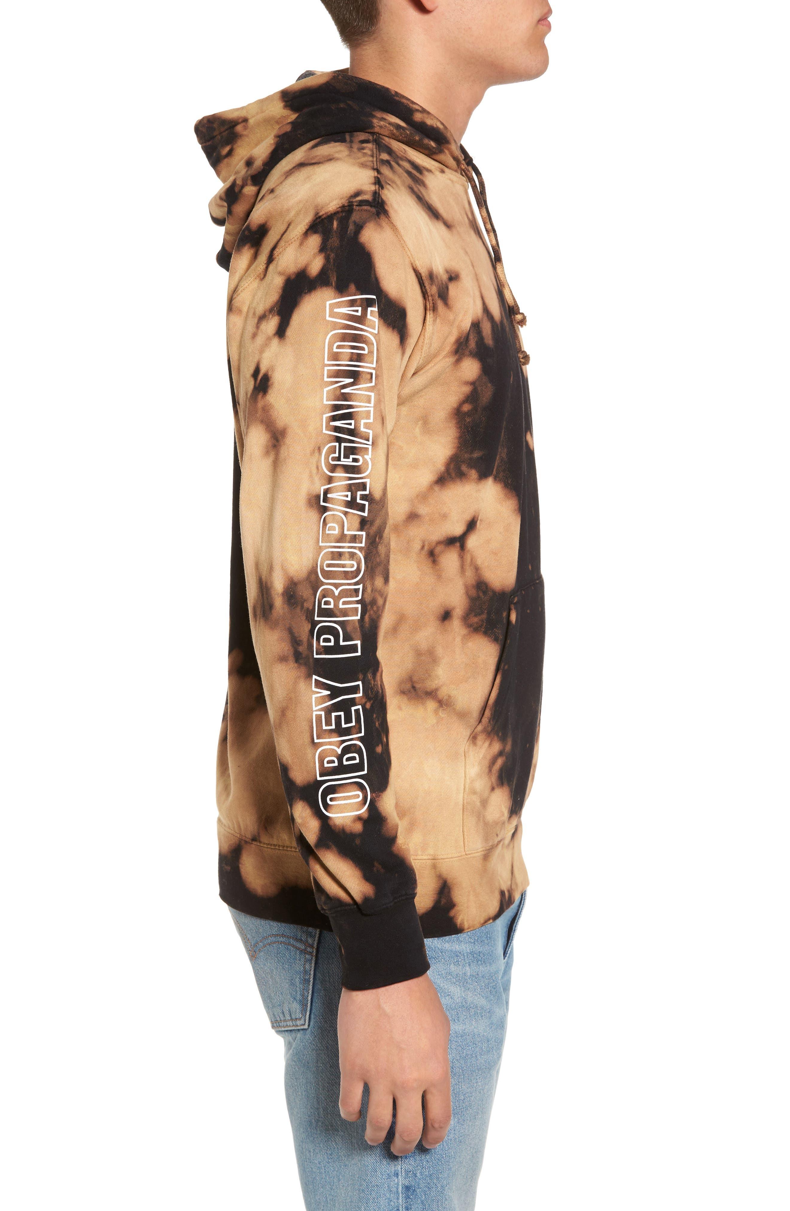 Alternate Image 3  - Obey Rough Draft Tie Dye Fleece Hoodie