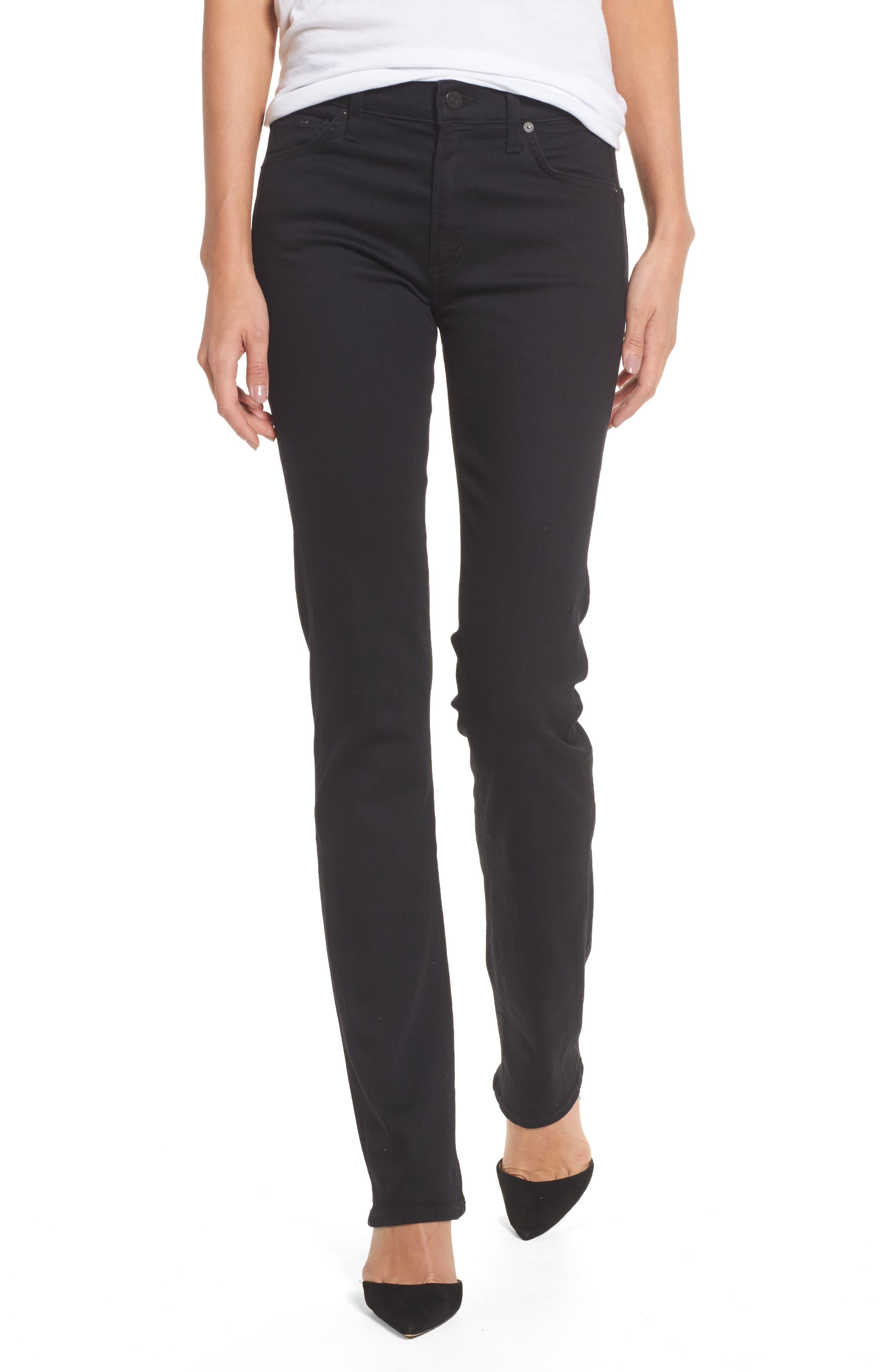 Agnes Long Jeans,                         Main,                         color, Ozone Black