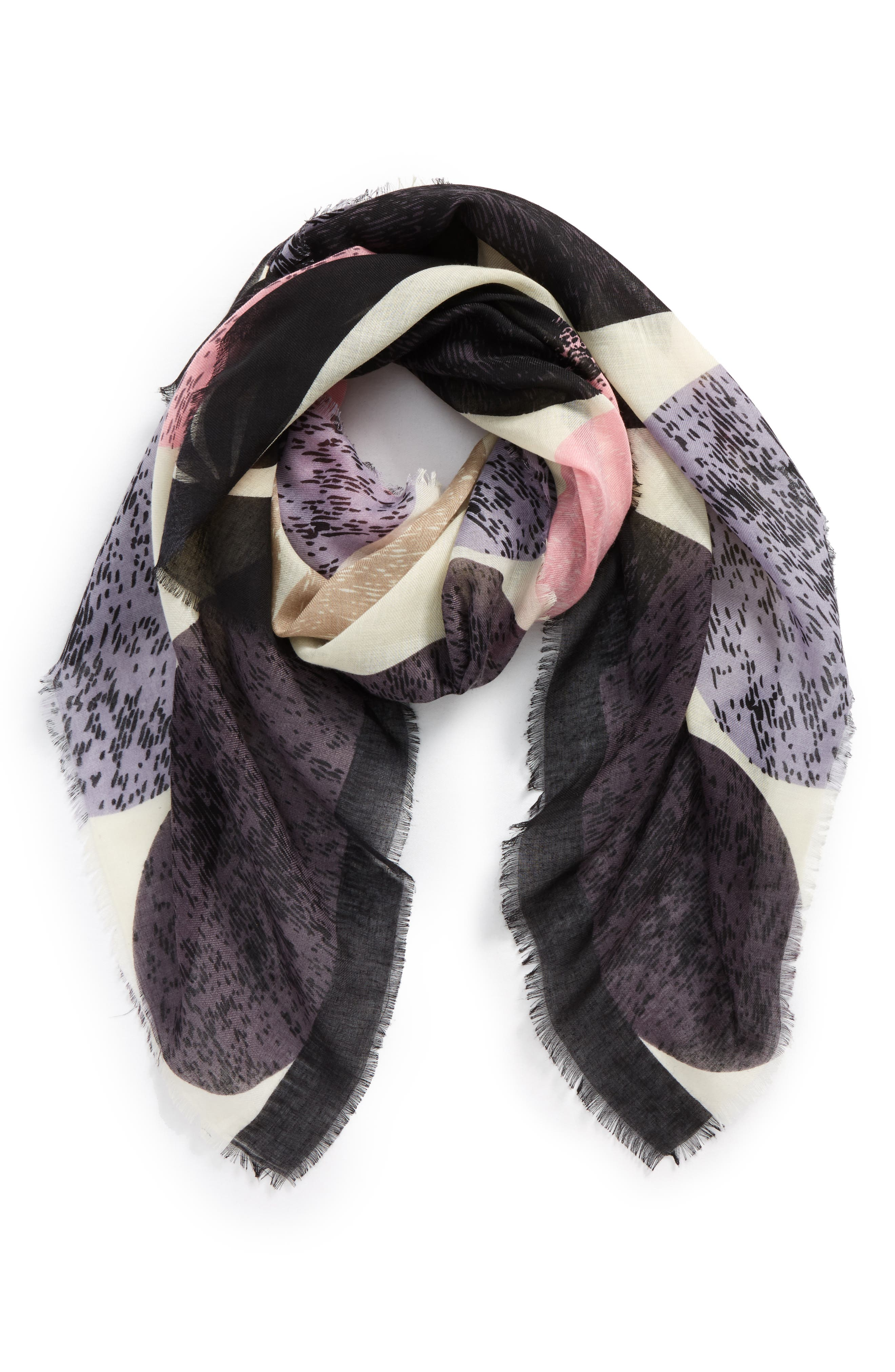 BP. Abstract Watercolor Square Scarf