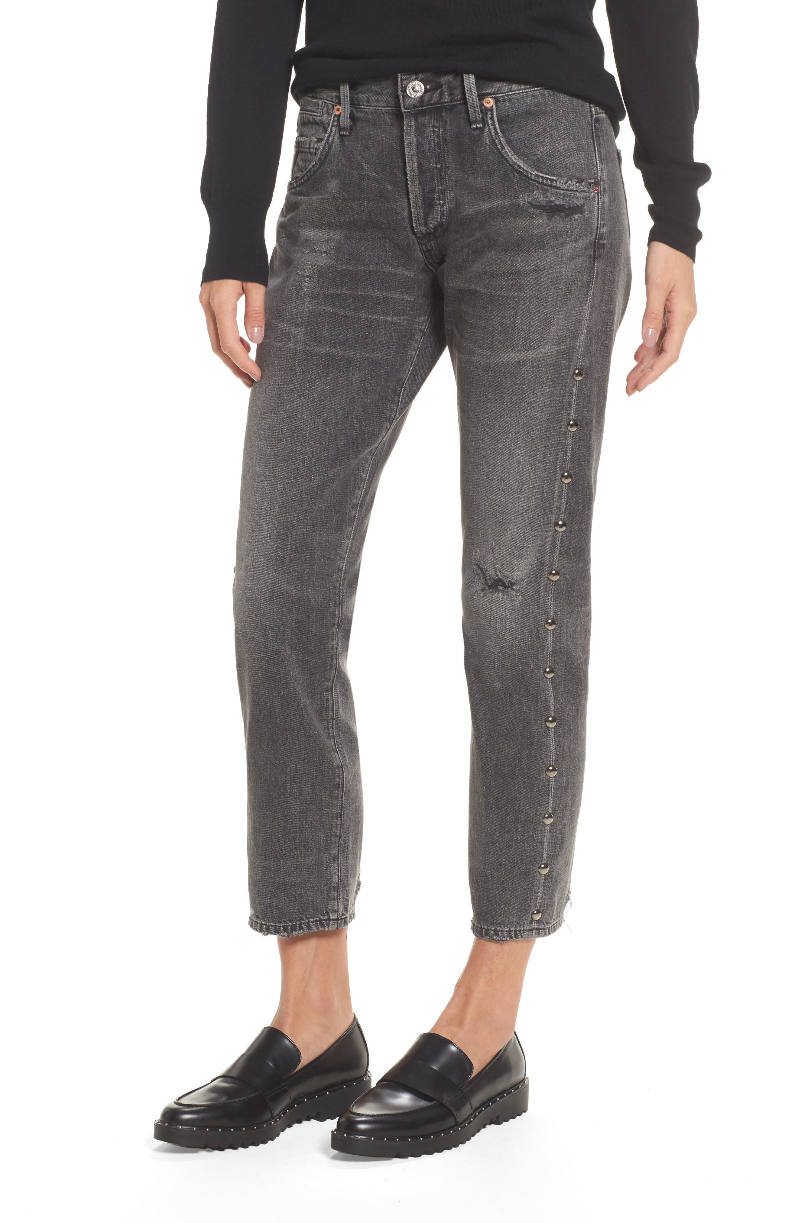 Alternate Image 1 Selected - Citizens of Humanity Emerson Studded Slim Boyfriend Jeans (Studded Hideout)