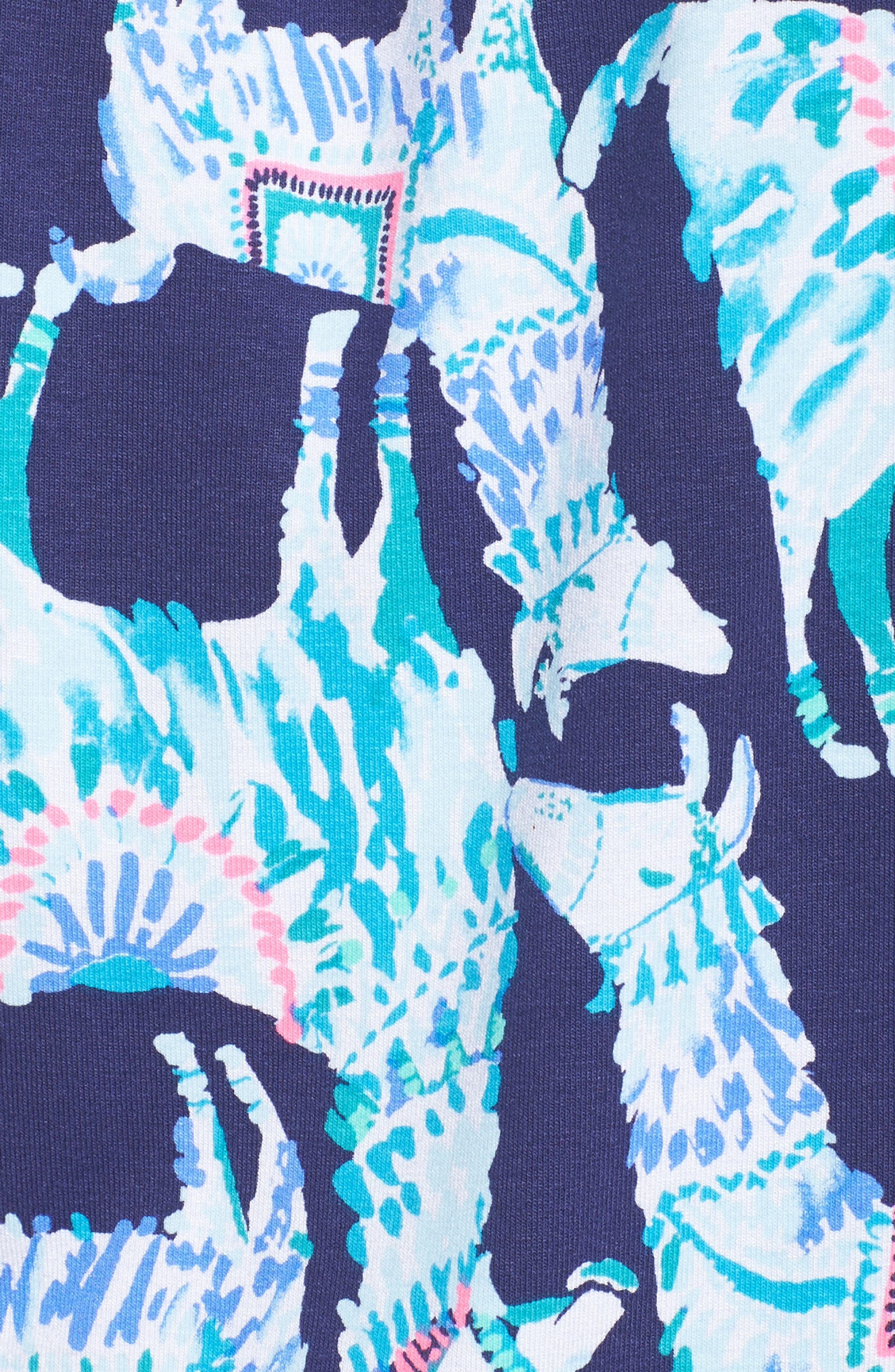 Lana Romper,                             Alternate thumbnail 5, color,                             Bright Navy Alpaca My Bags