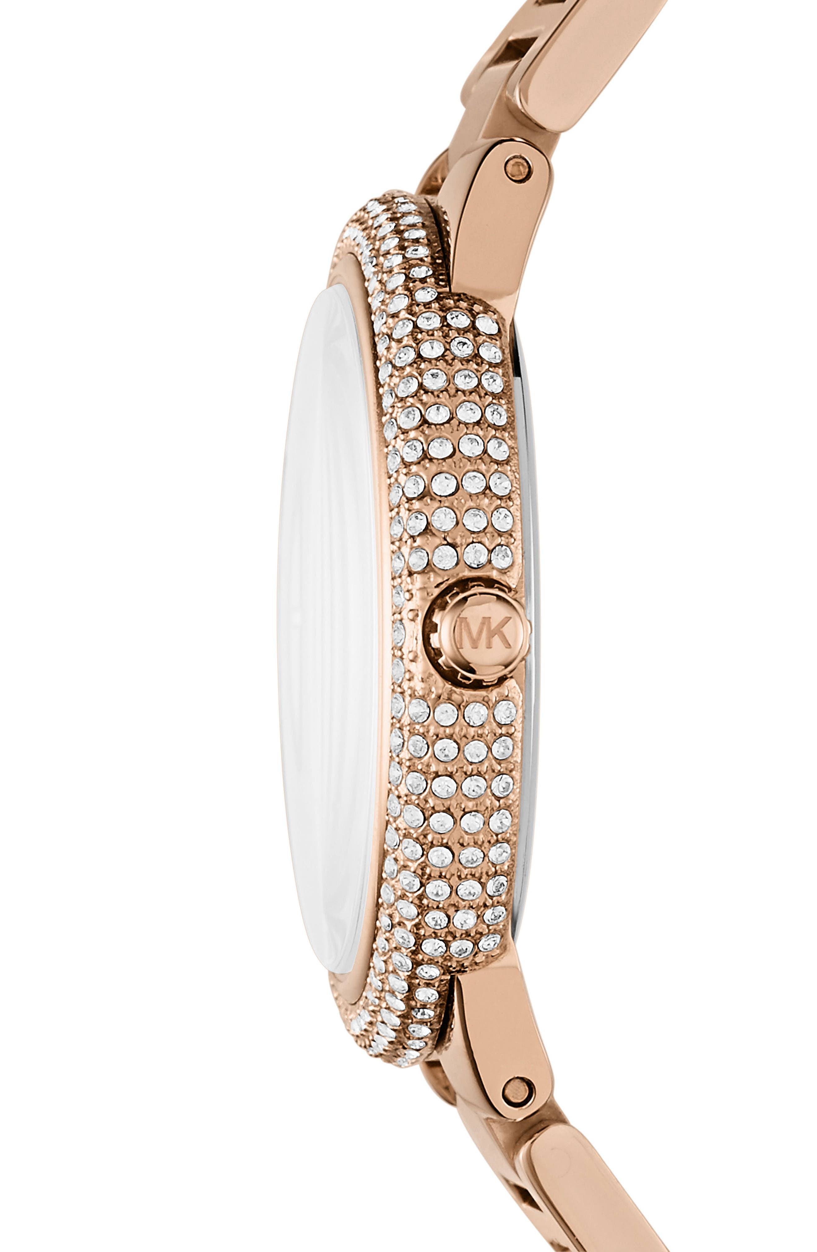 Taryn Crystal Bracelet Watch, 40mm,                             Alternate thumbnail 2, color,                             Rose Gold/ Mop/ Rose Gold