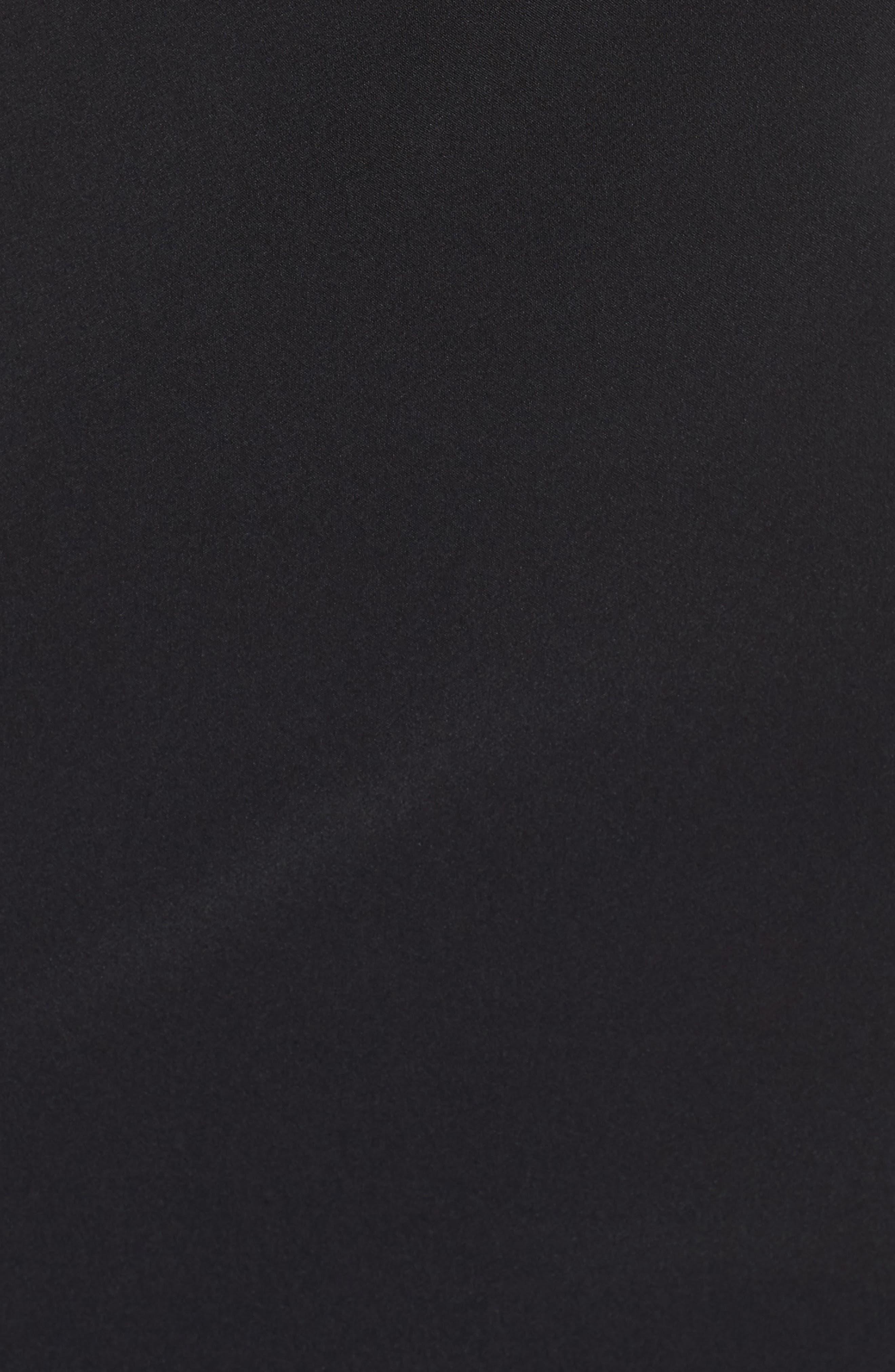 Krista Elastic Strap Cutout Gown,                             Alternate thumbnail 5, color,                             Black