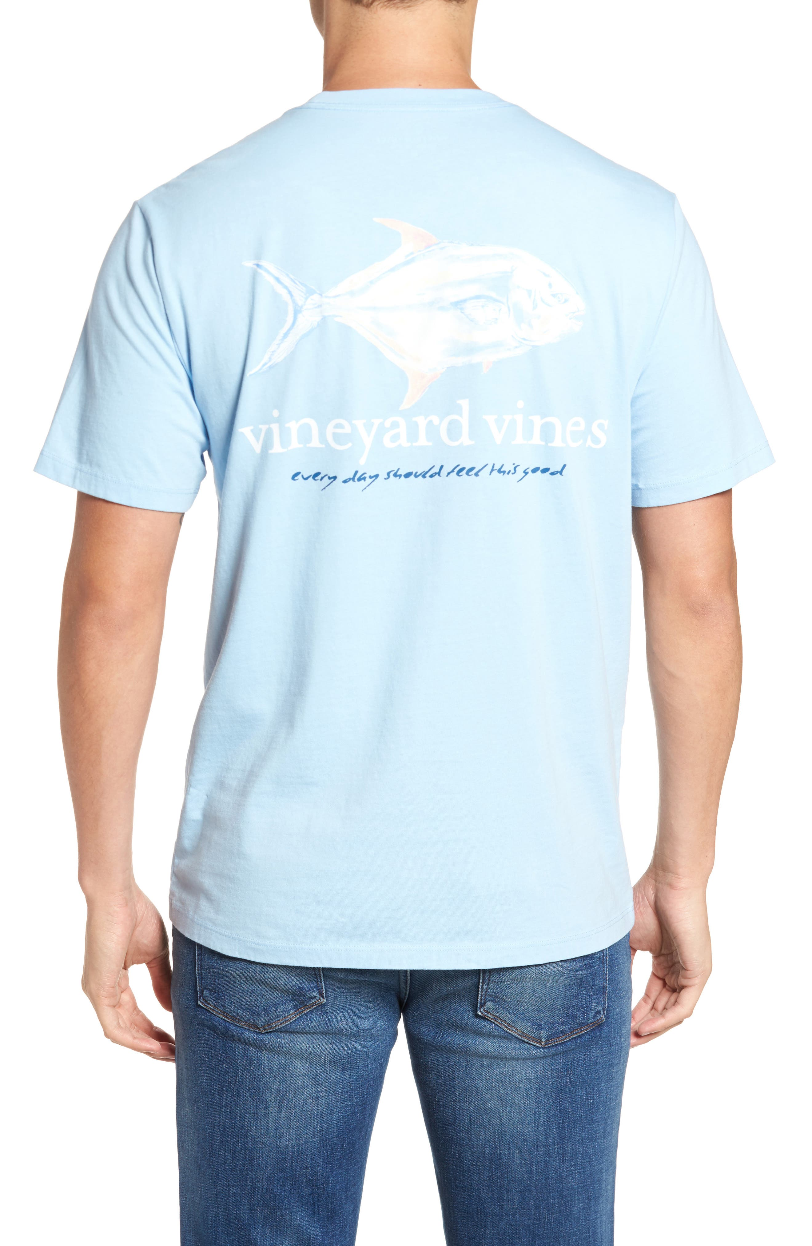 Painted Permit Graphic Pocket T-Shirt,                             Main thumbnail 1, color,                             Jake Blue