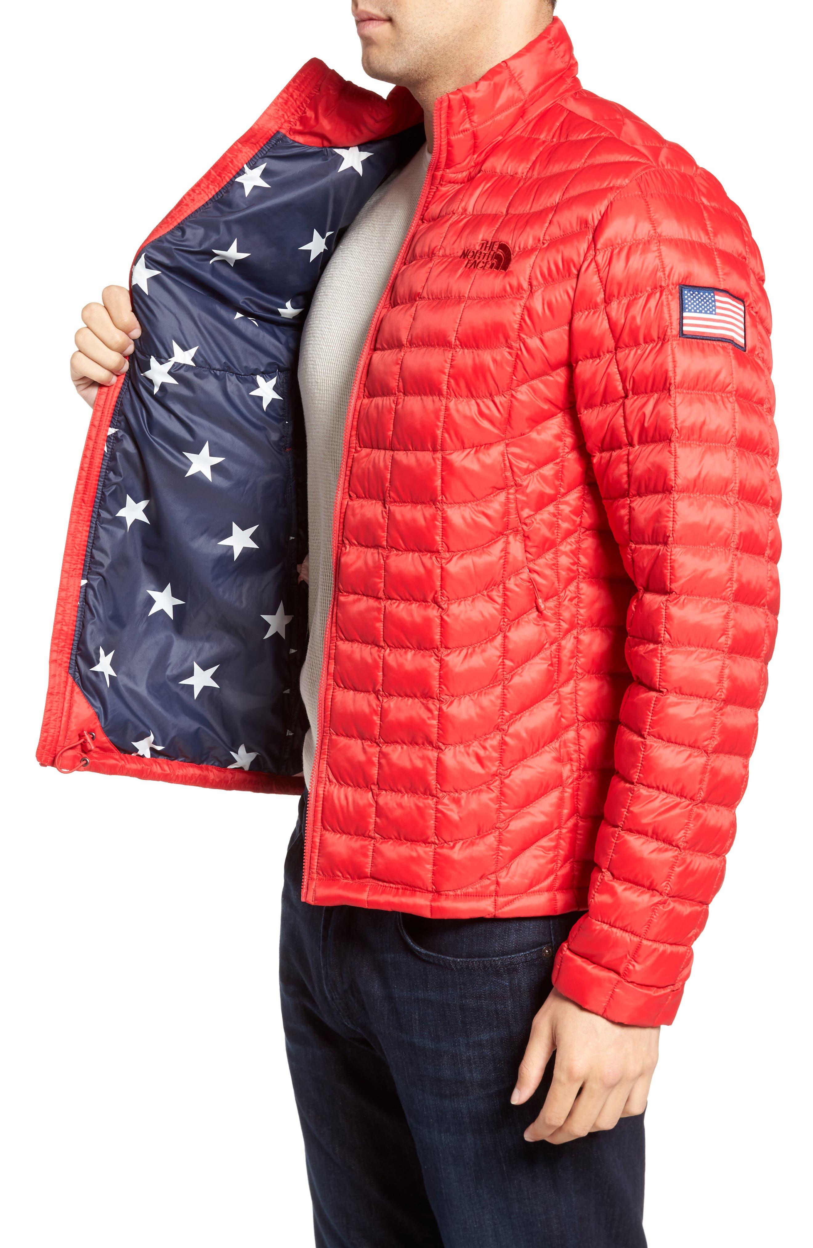 International Collection ThermoBall PrimaLoft<sup>®</sup> Jacket,                             Alternate thumbnail 3, color,                             Red