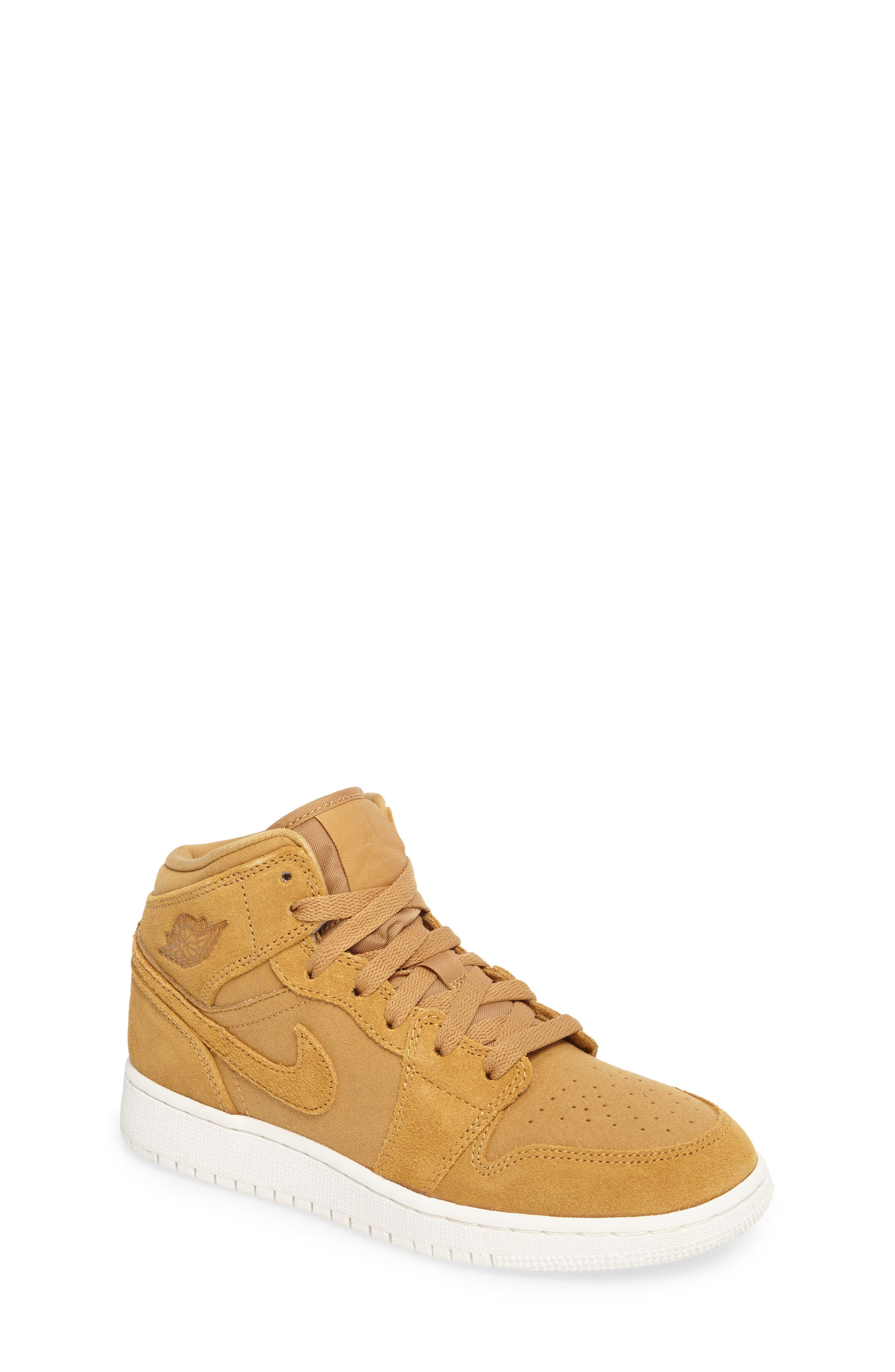 Alternate Image 1 Selected - Nike 'Air Jordan 1 Mid' Sneaker (Big Kid)
