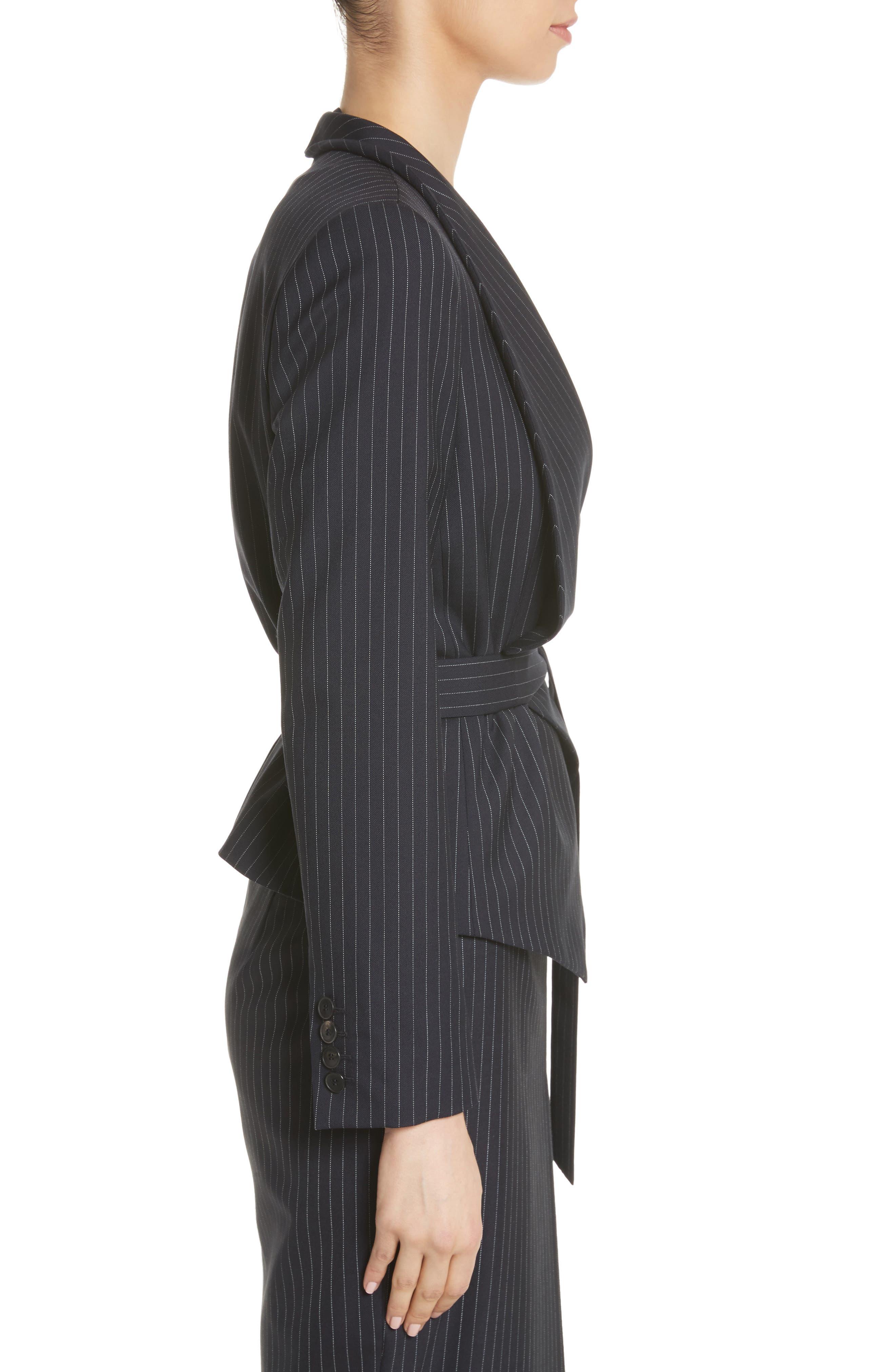 Giunto Stretch Wool Belted Blazer,                             Alternate thumbnail 4, color,                             Ultramarine