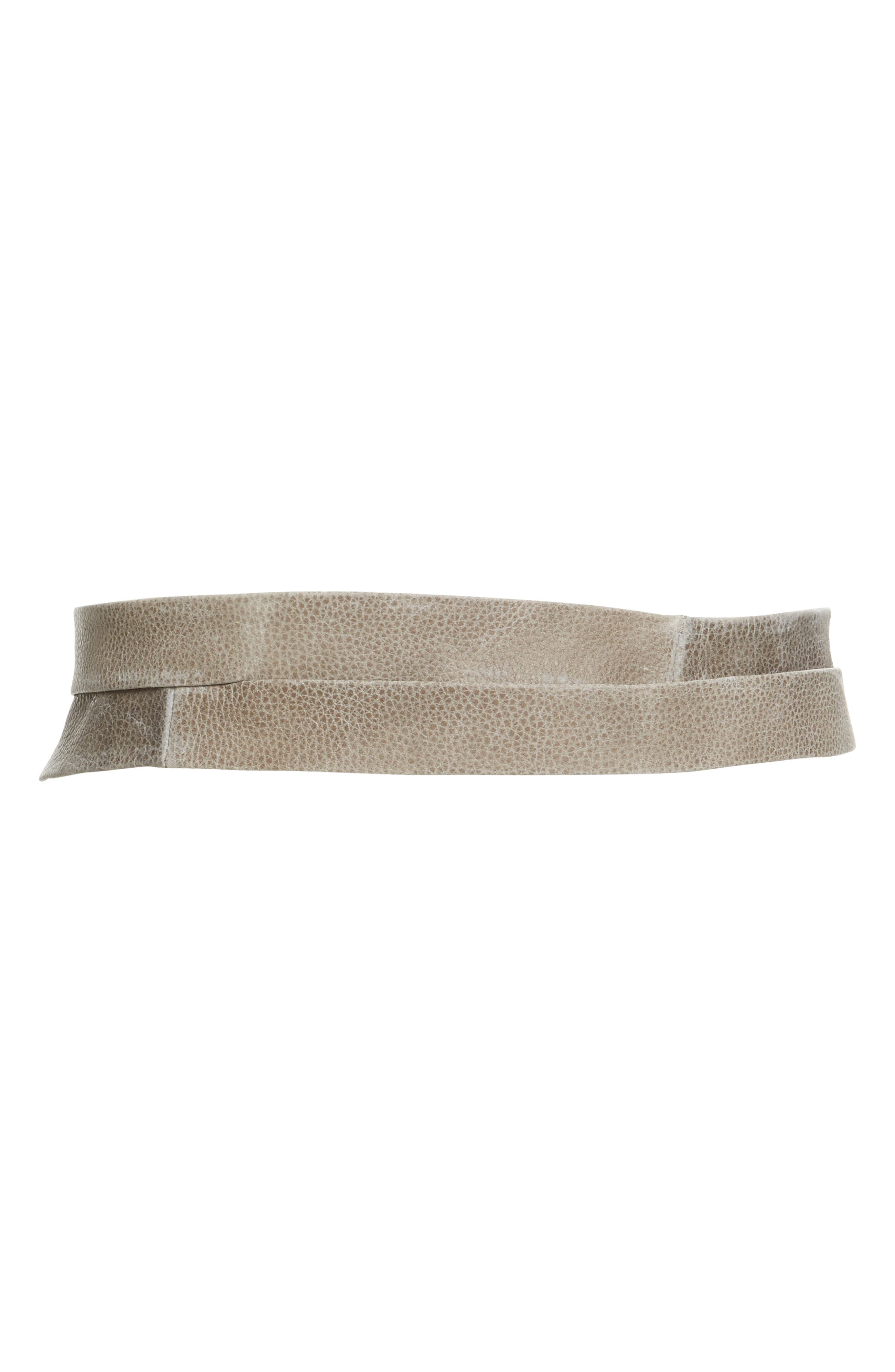 Classic Wrap Belt,                             Alternate thumbnail 2, color,                             Grey Pebble