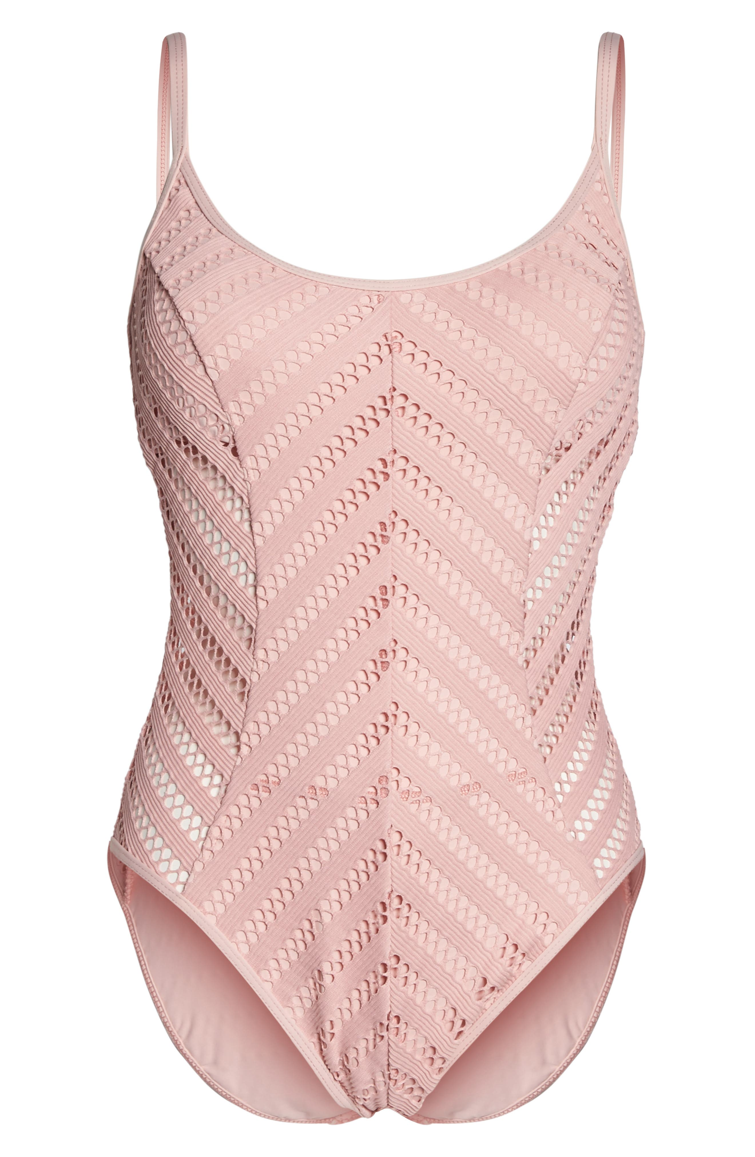 Alternate Image 6  - Kenneth Cole New York Tough Luxe One-Piece Swimsuit