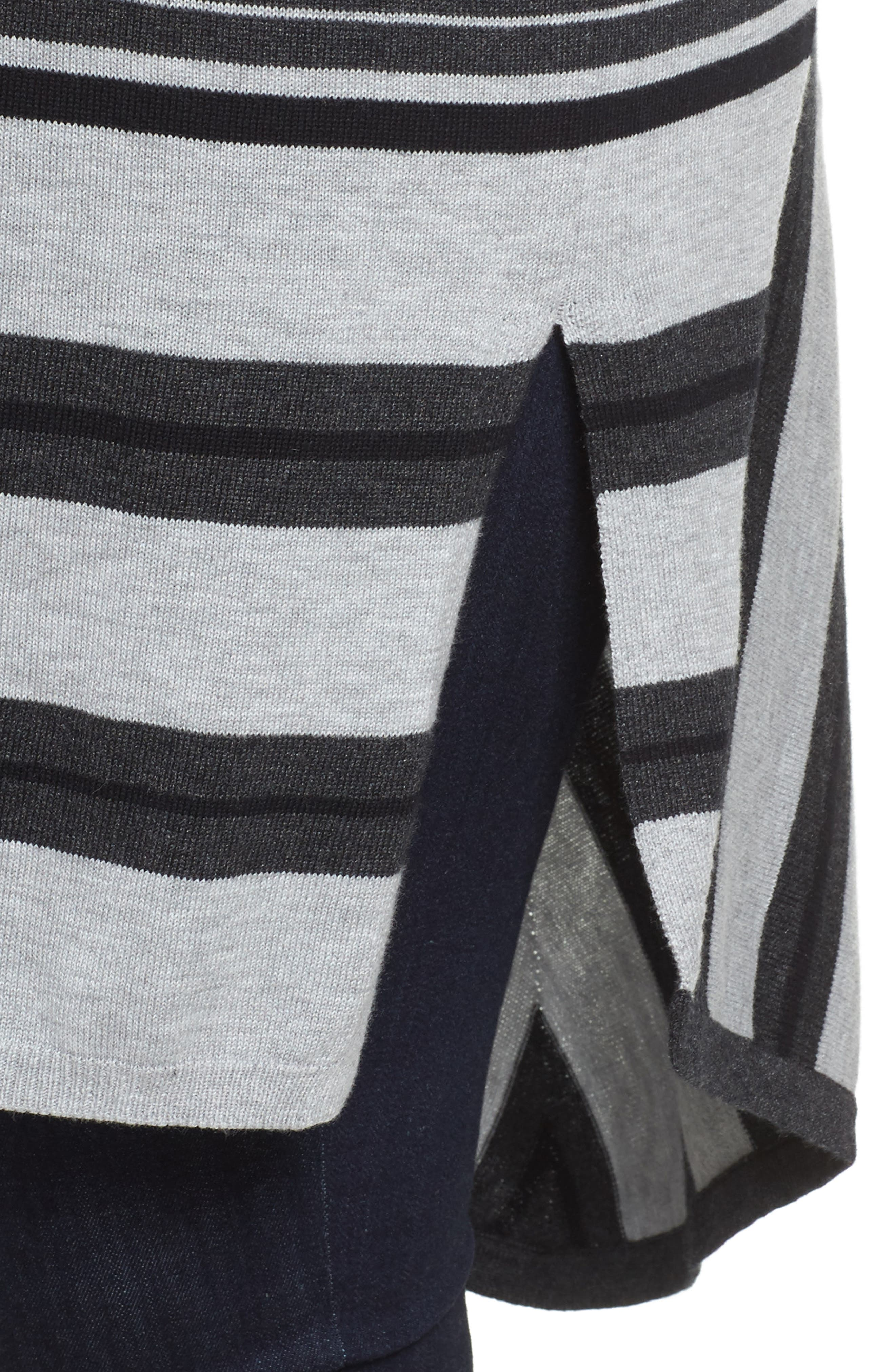 Alternate Image 4  - Vince Camuto Long Stripe Cardigan (Plus Size)
