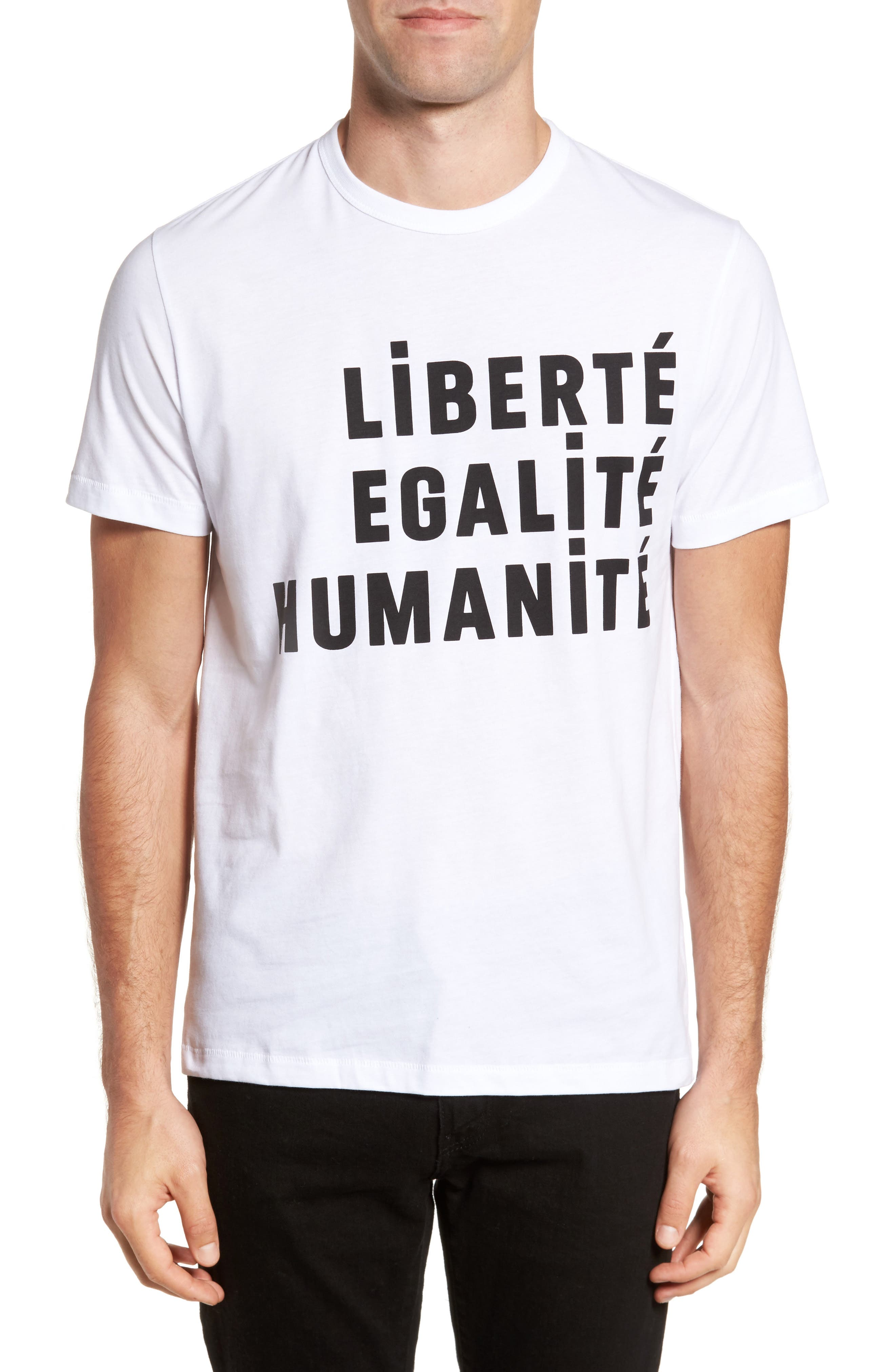 French Connection Égalité Regular Fit Graphic T-Shirt