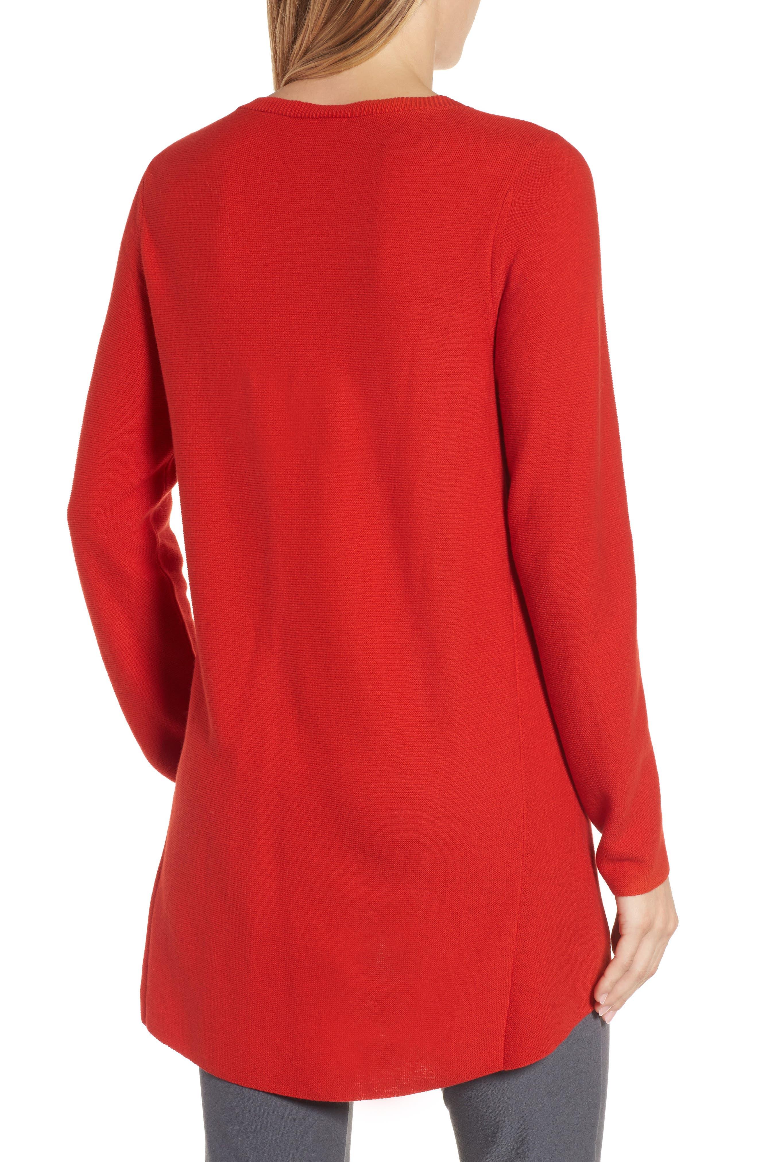 Alternate Image 3  - Eileen Fisher Organic Cotton Tunic Sweater (Regular & Petite)