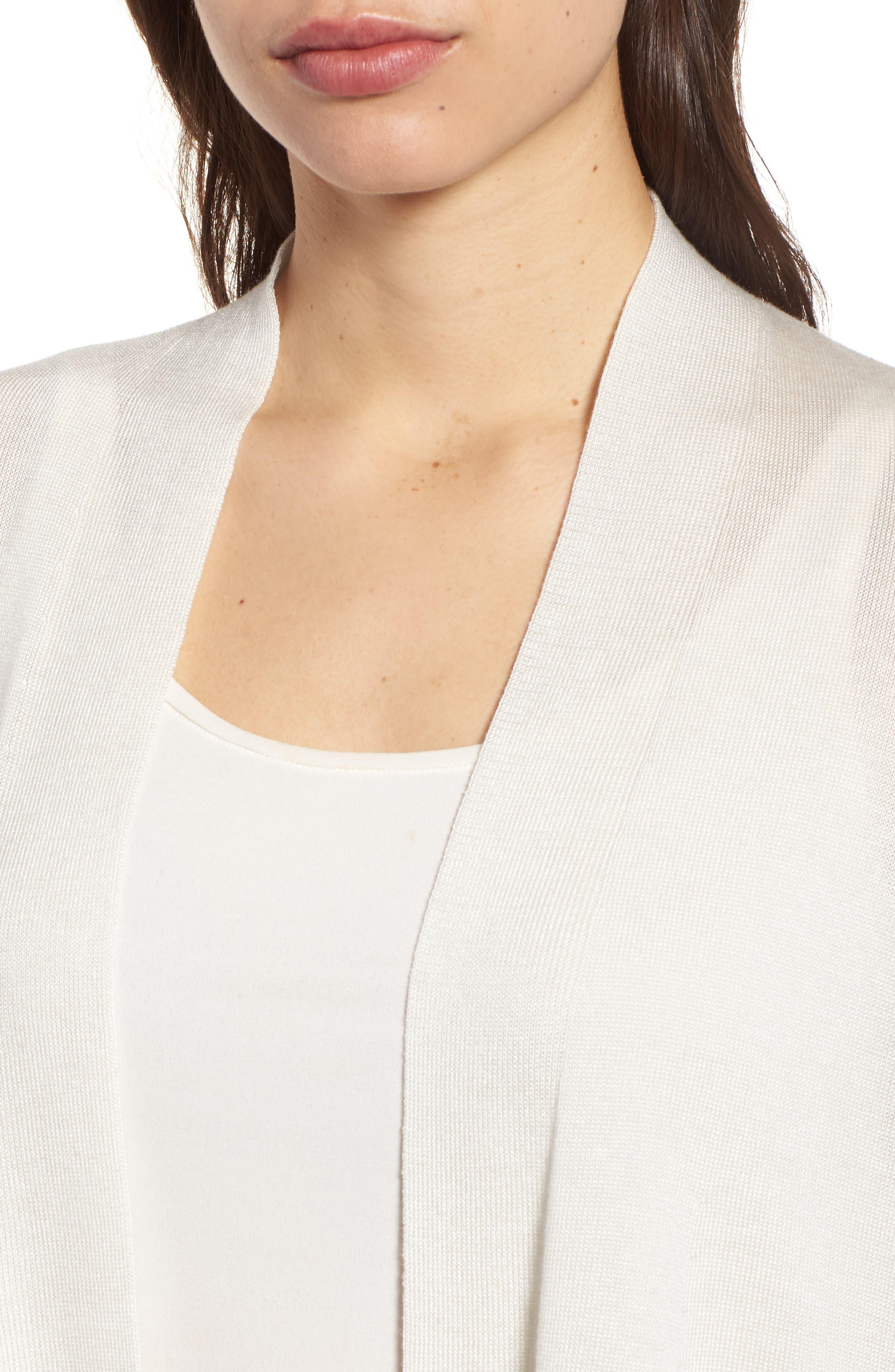 Alternate Image 4  - Eileen Fisher Tencel® & Merino Wool Shaped Cardigan
