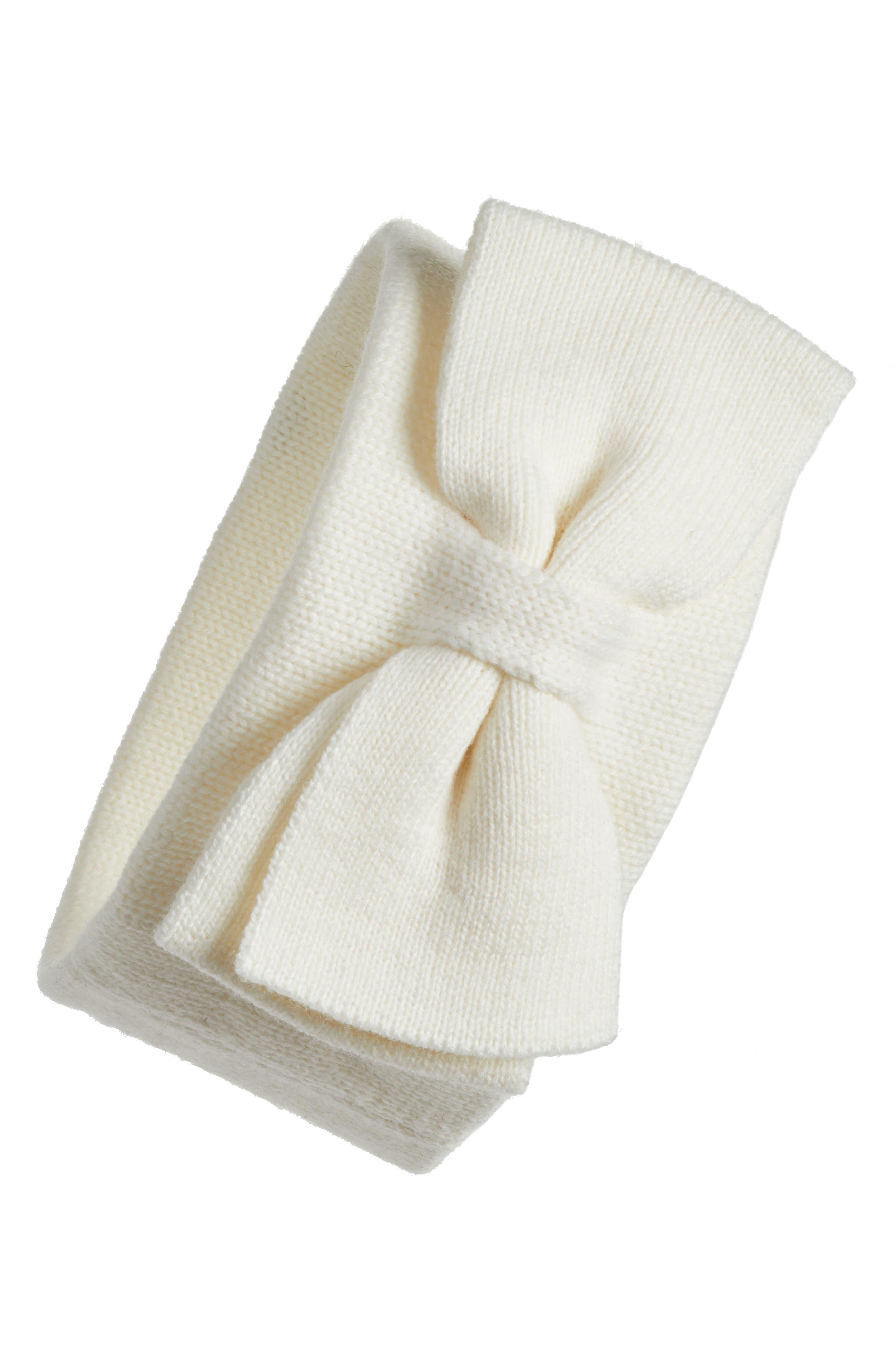 half bow headband,                             Main thumbnail 1, color,                             Cream