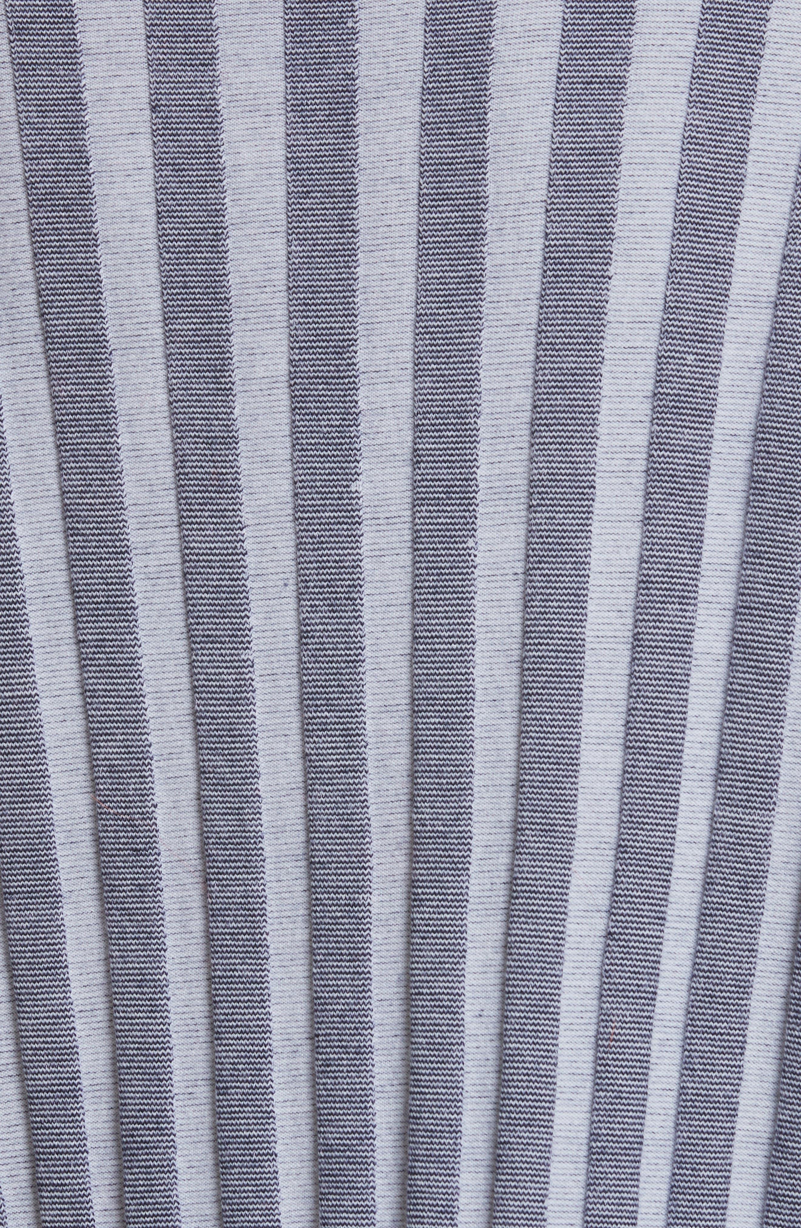 Campbell Stripe Merino Wool Blend Sweater,                             Alternate thumbnail 5, color,                             Navy/ Ivory