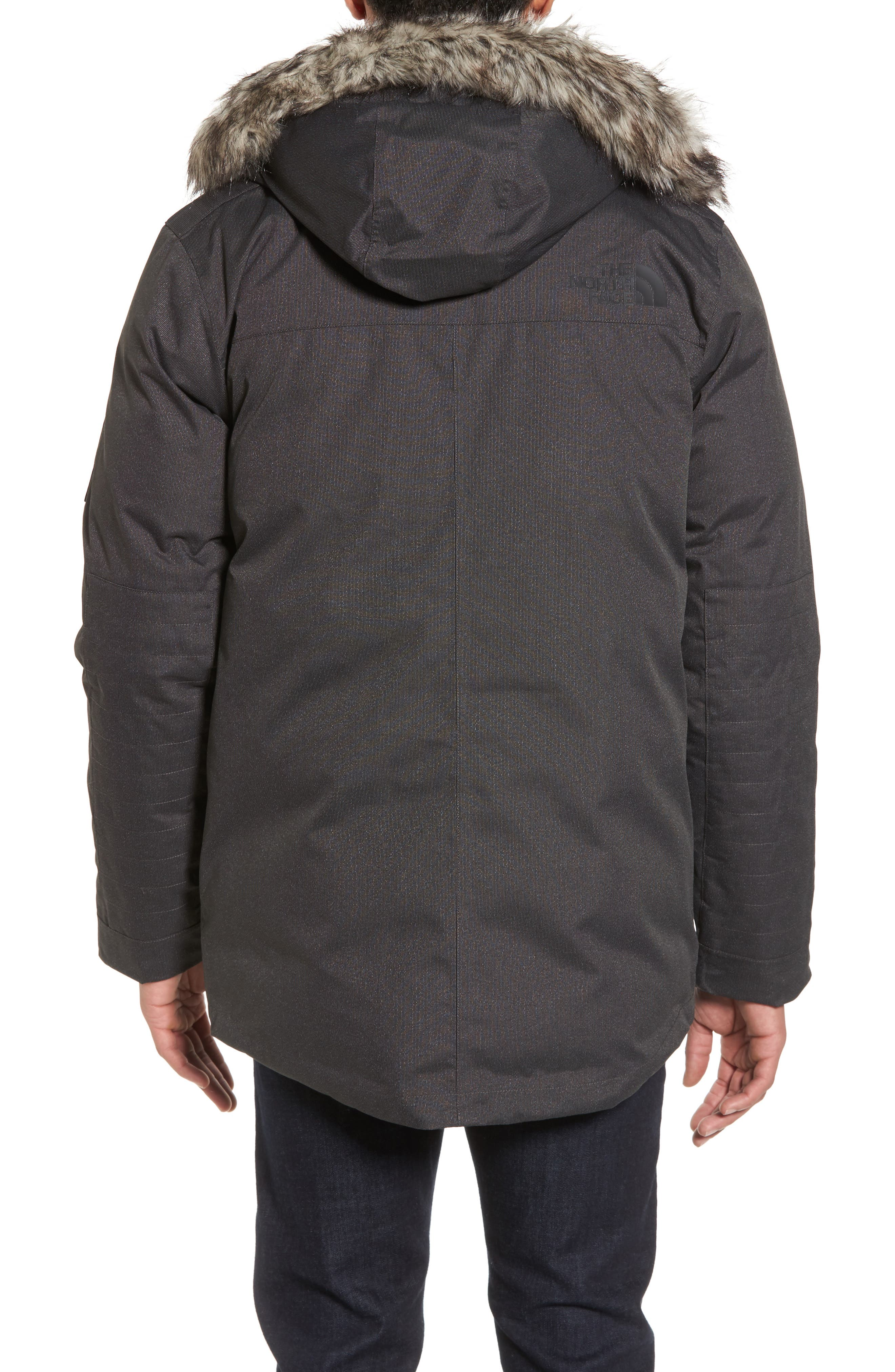 Outer Boroughs Waterproof Parka,                             Alternate thumbnail 2, color,                             Tnf Dark Grey Heather