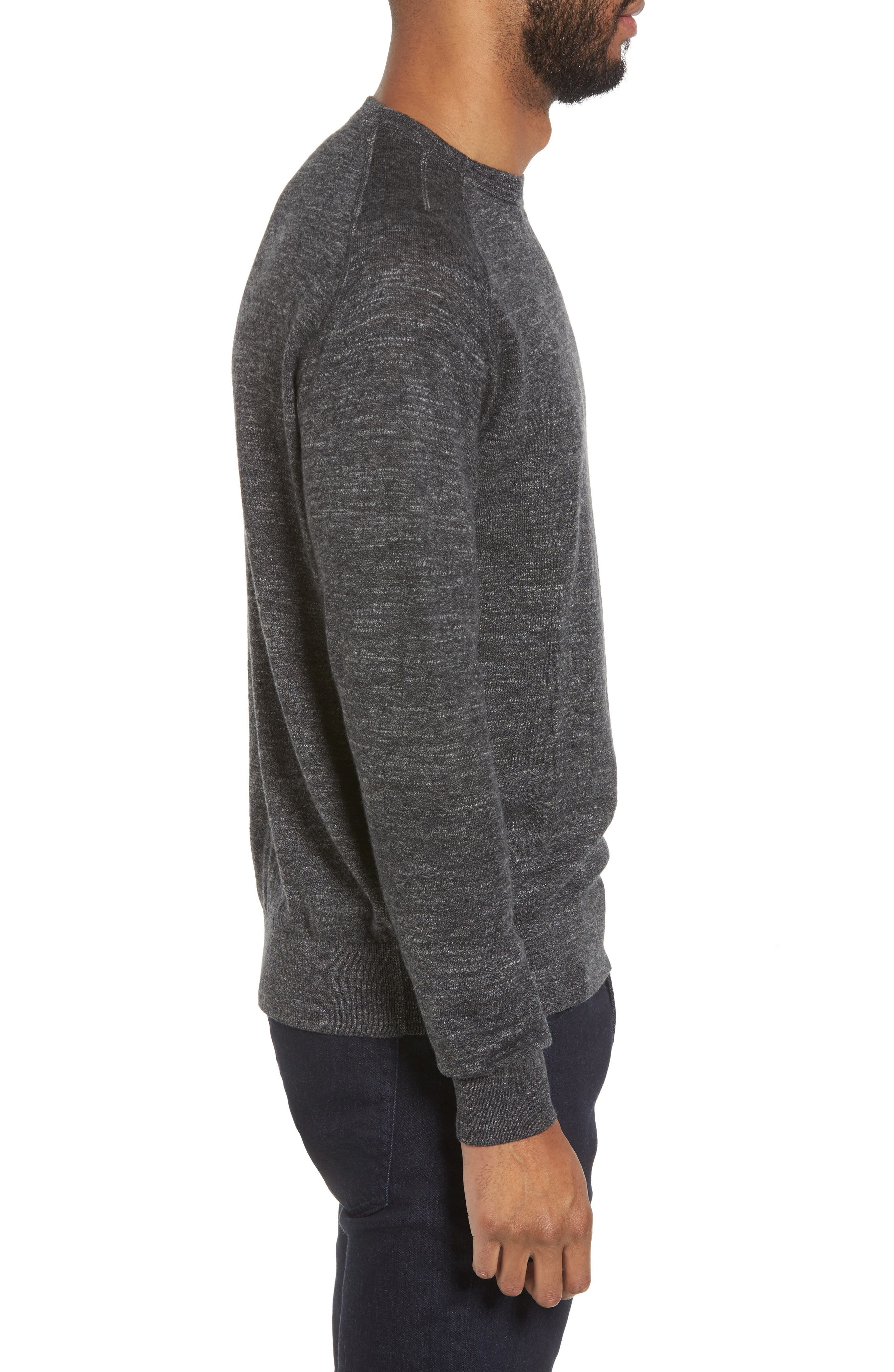 Slub Pullover Sweater,                             Alternate thumbnail 3, color,                             Grey