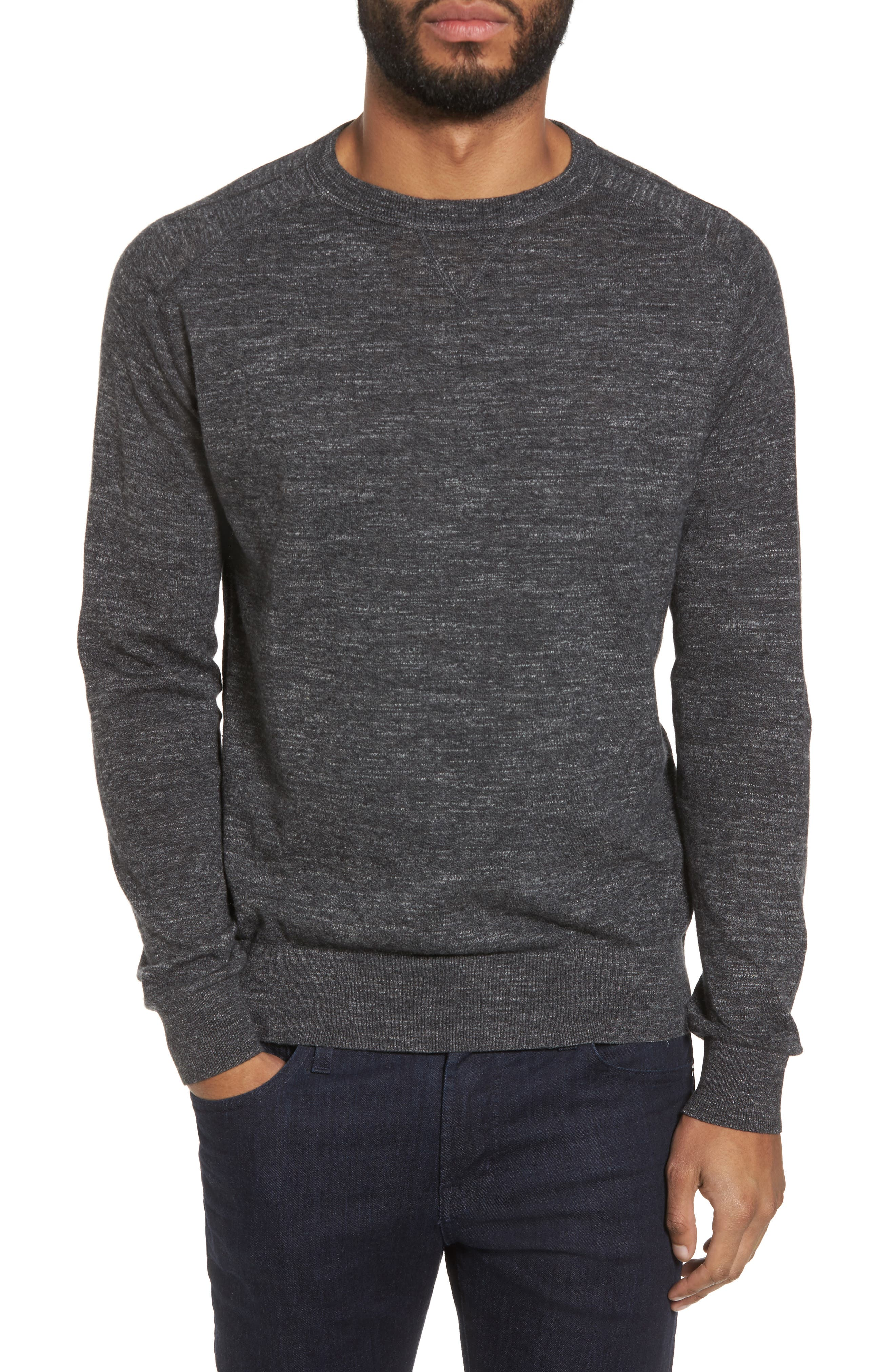 Slub Pullover Sweater,                             Main thumbnail 1, color,                             Grey