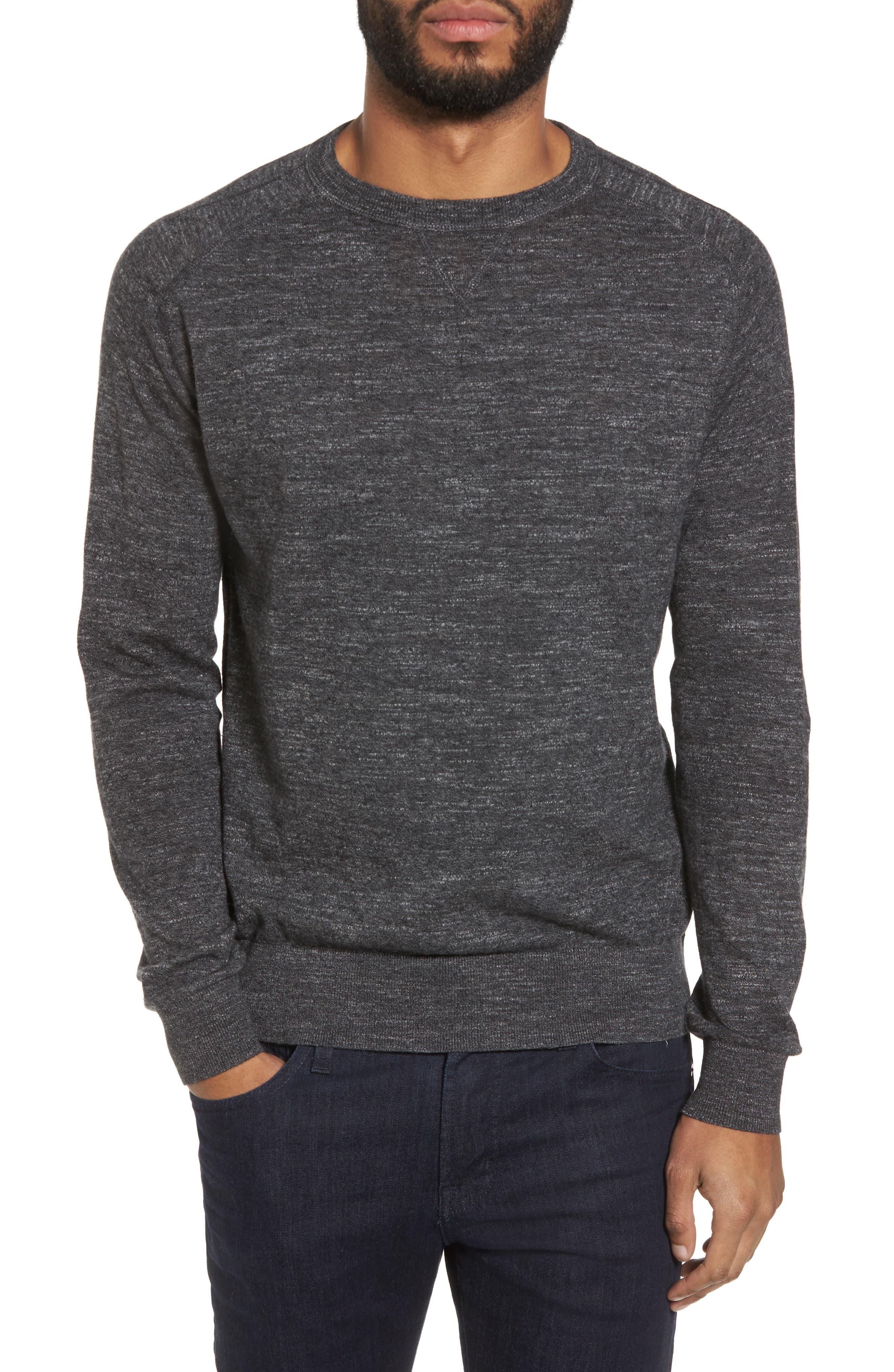 Slub Pullover Sweater,                         Main,                         color, Grey