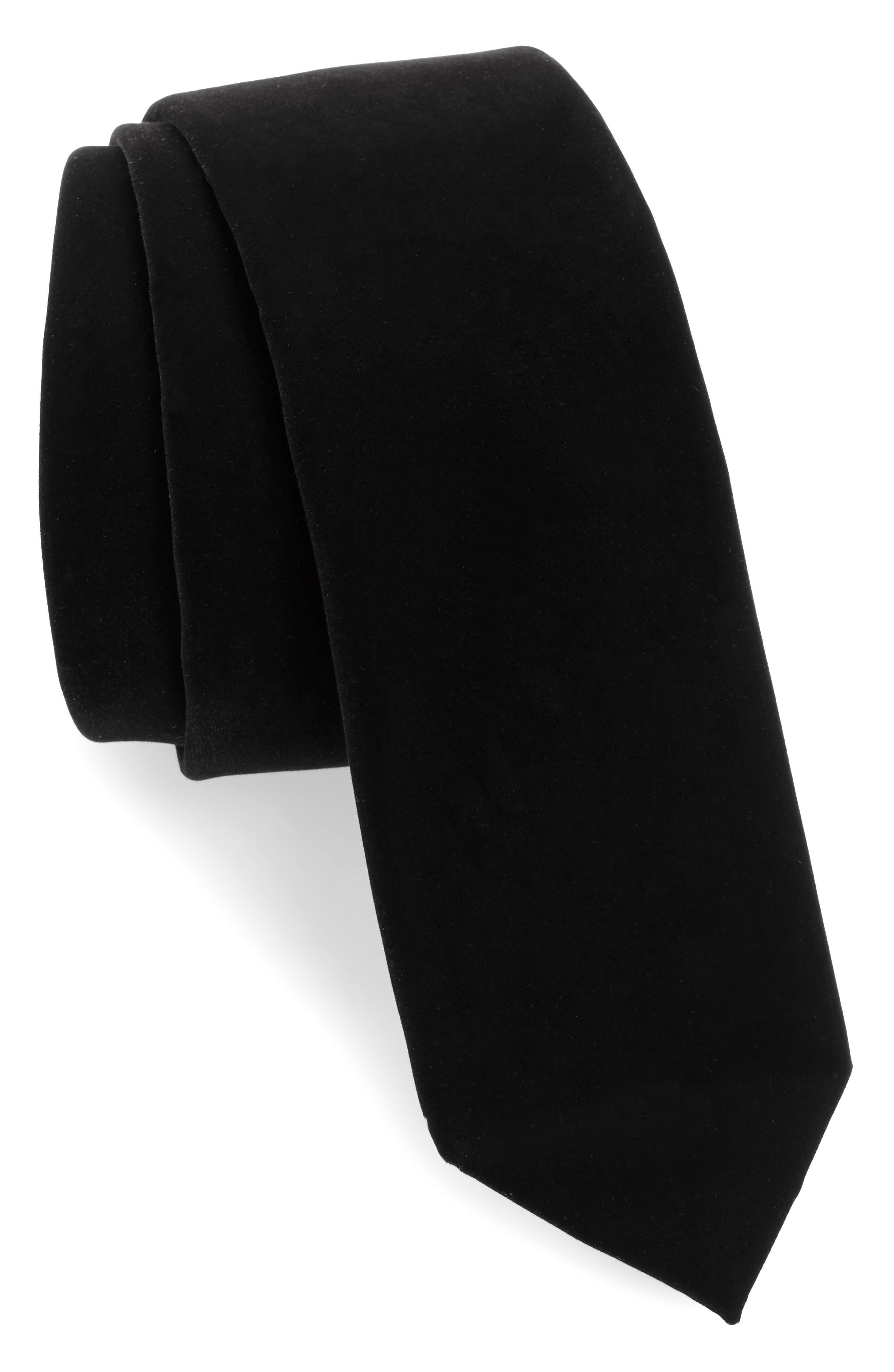Velvet Tie,                             Main thumbnail 1, color,                             Black