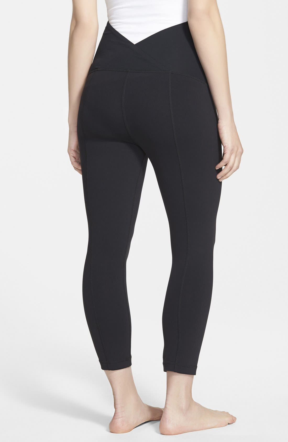 Alternate Image 2  - Ingrid & Isabel® Active Maternity Capri Pants with Crossover Panel