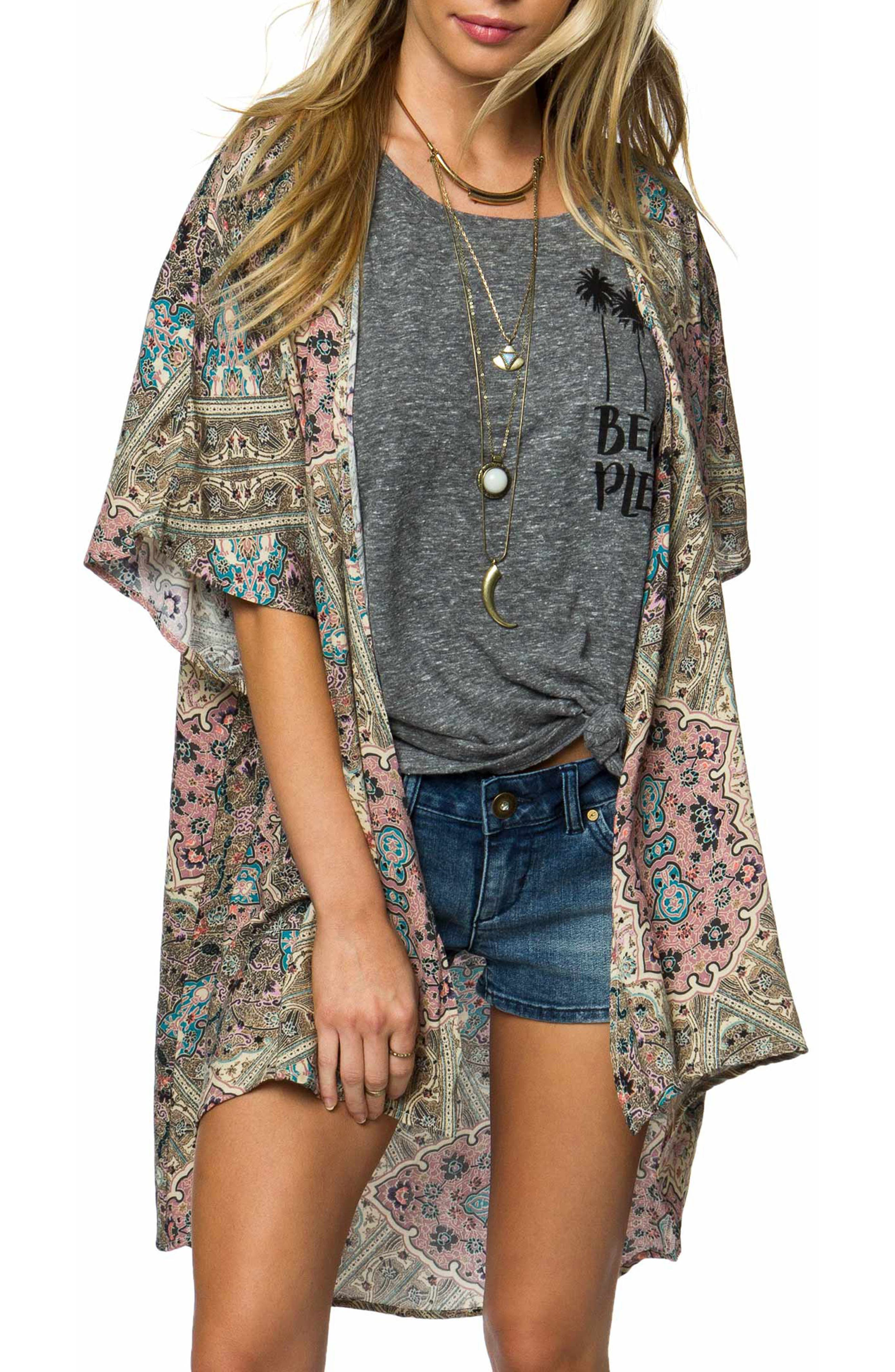 Alternate Image 1 Selected - O'Neill Nola Woven Kimono