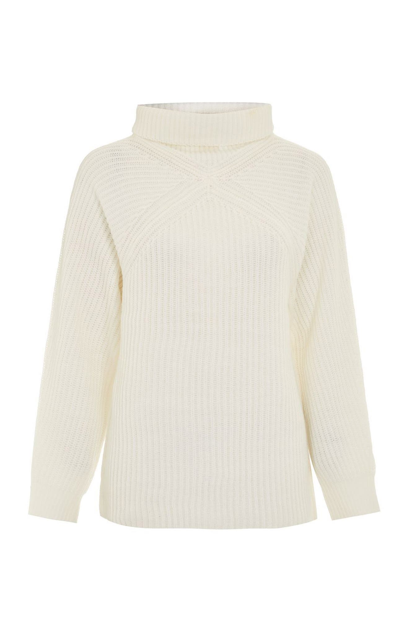 Alternate Image 5  - Topshop Diamond Stitch Turtleneck Sweater