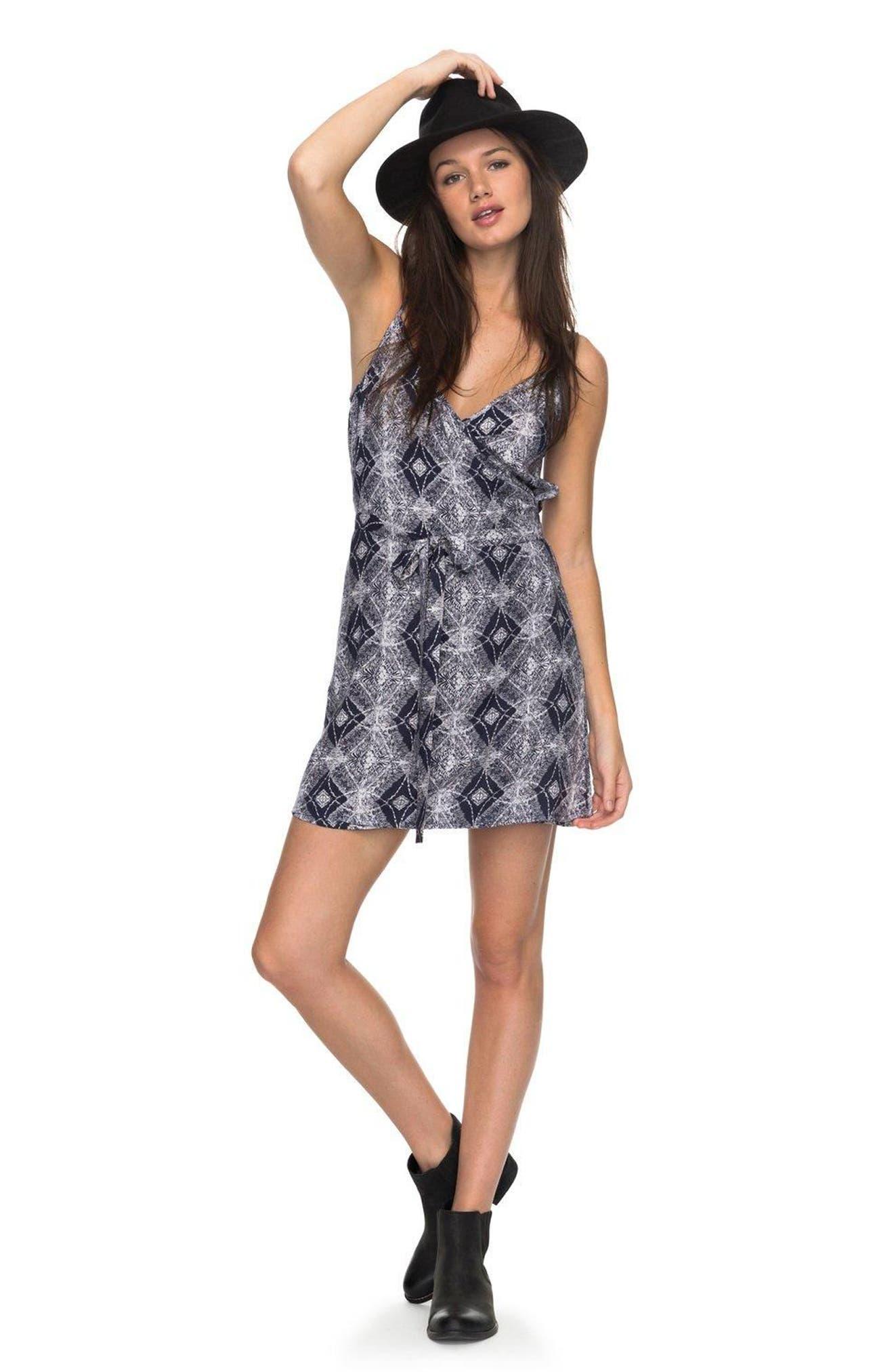 Drifting Current Wrap Dress,                             Alternate thumbnail 2, color,                             Dress Blue Chamane Voice