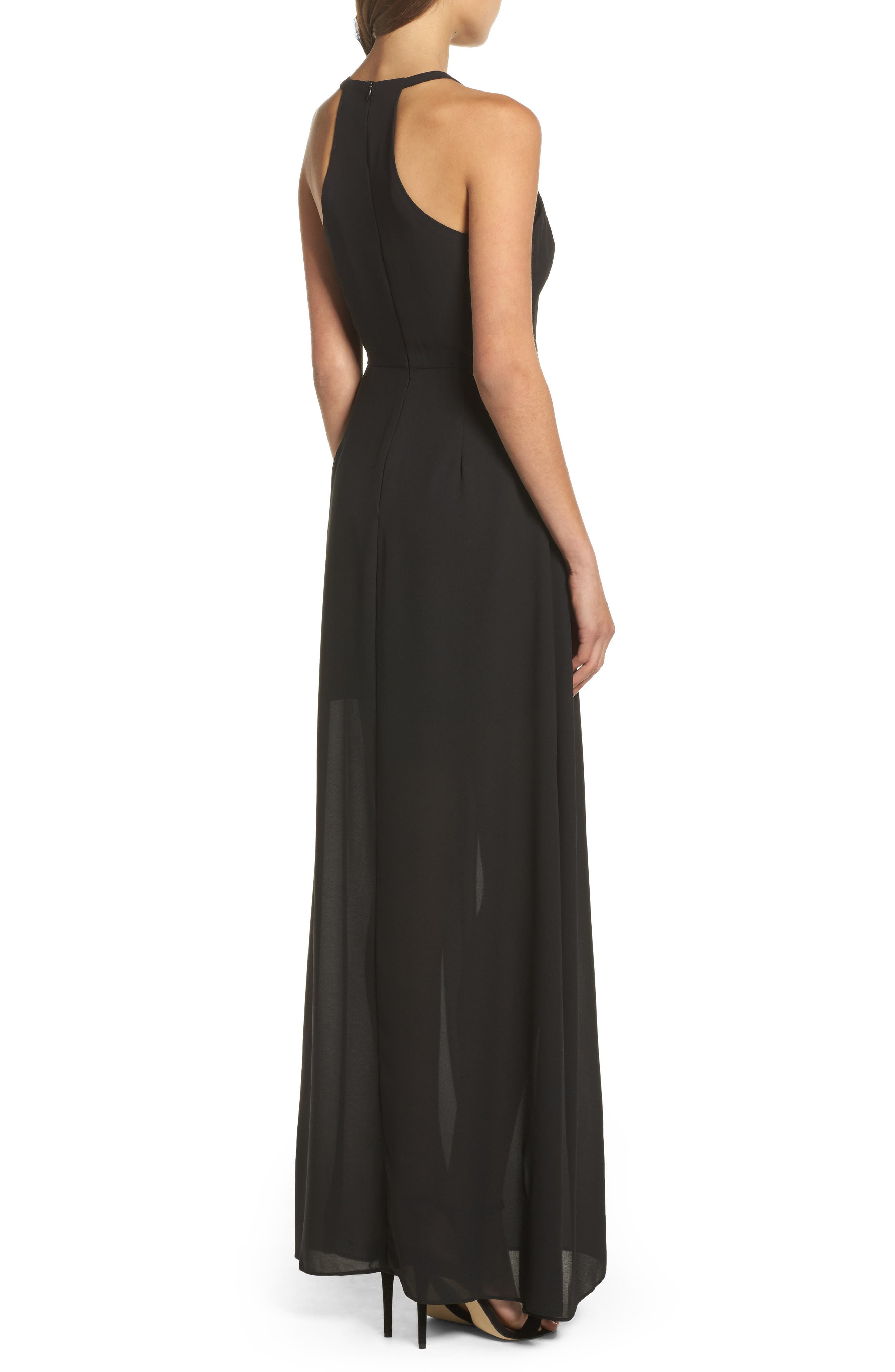 I Spy Maxi Dress,                             Alternate thumbnail 2, color,                             Black