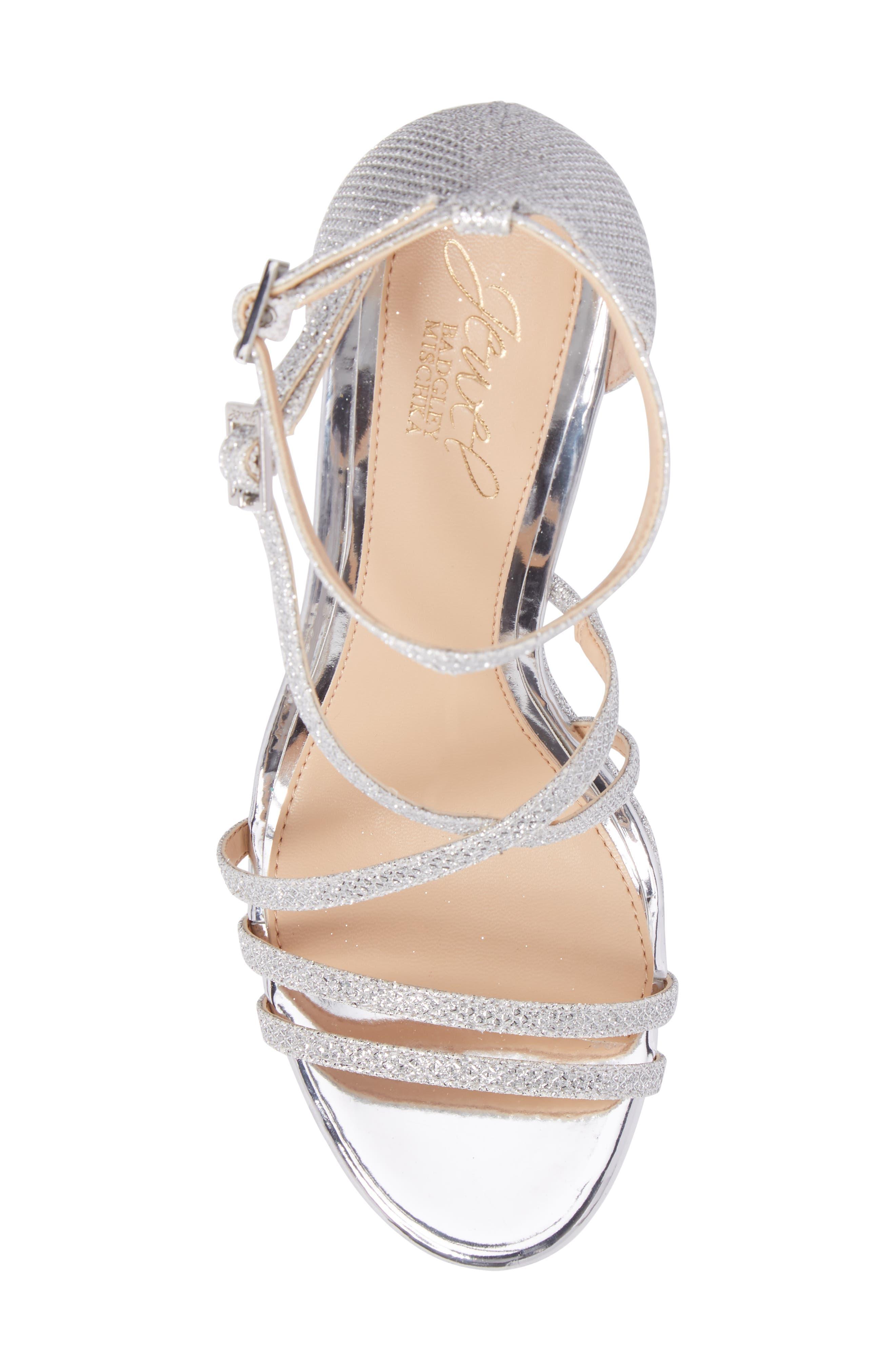 Tatsu Wedge Sandal,                             Alternate thumbnail 5, color,                             Silver Glitter
