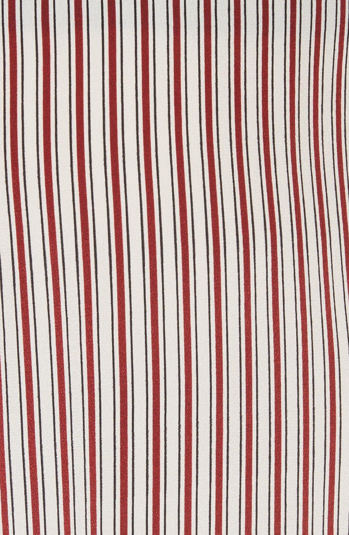 Lace Hem Stripe Pants,                             Alternate thumbnail 5, color,                             Crimson Barcode