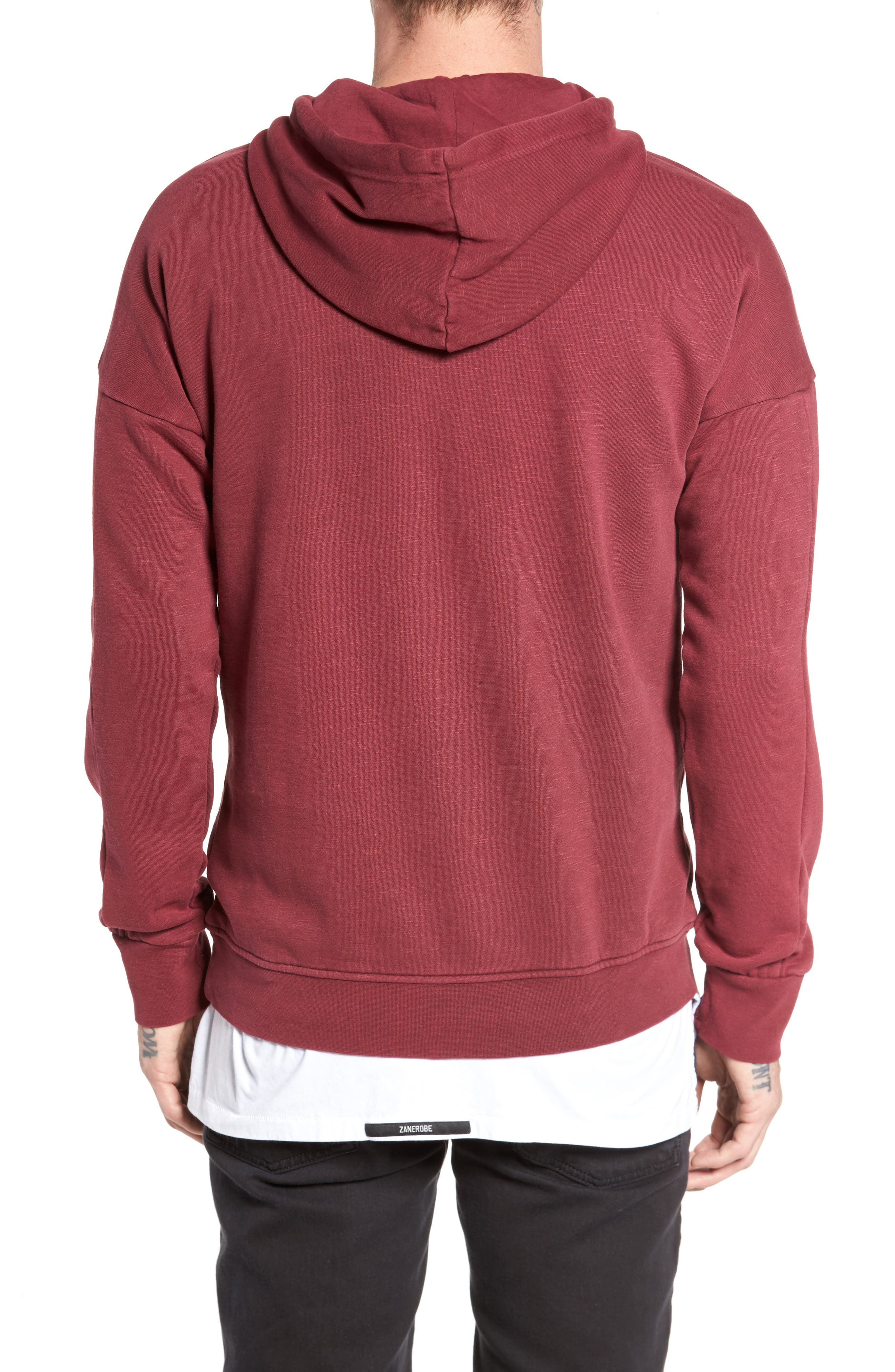Turf Hooded Sweatshirt,                             Alternate thumbnail 2, color,                             Rosewood