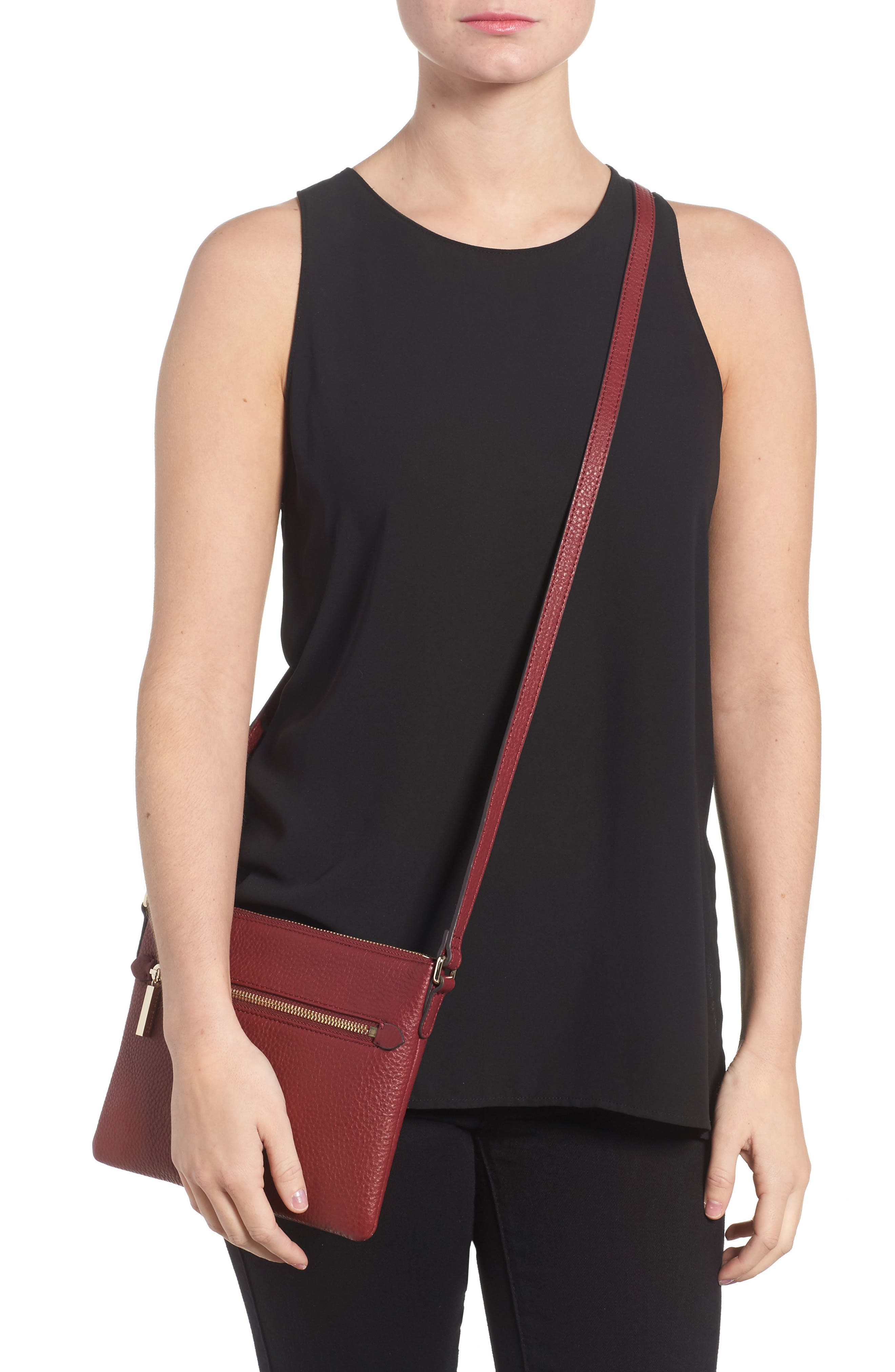 Alternate Image 2  - Céline Dion Adagio Leather Crossbody Bag