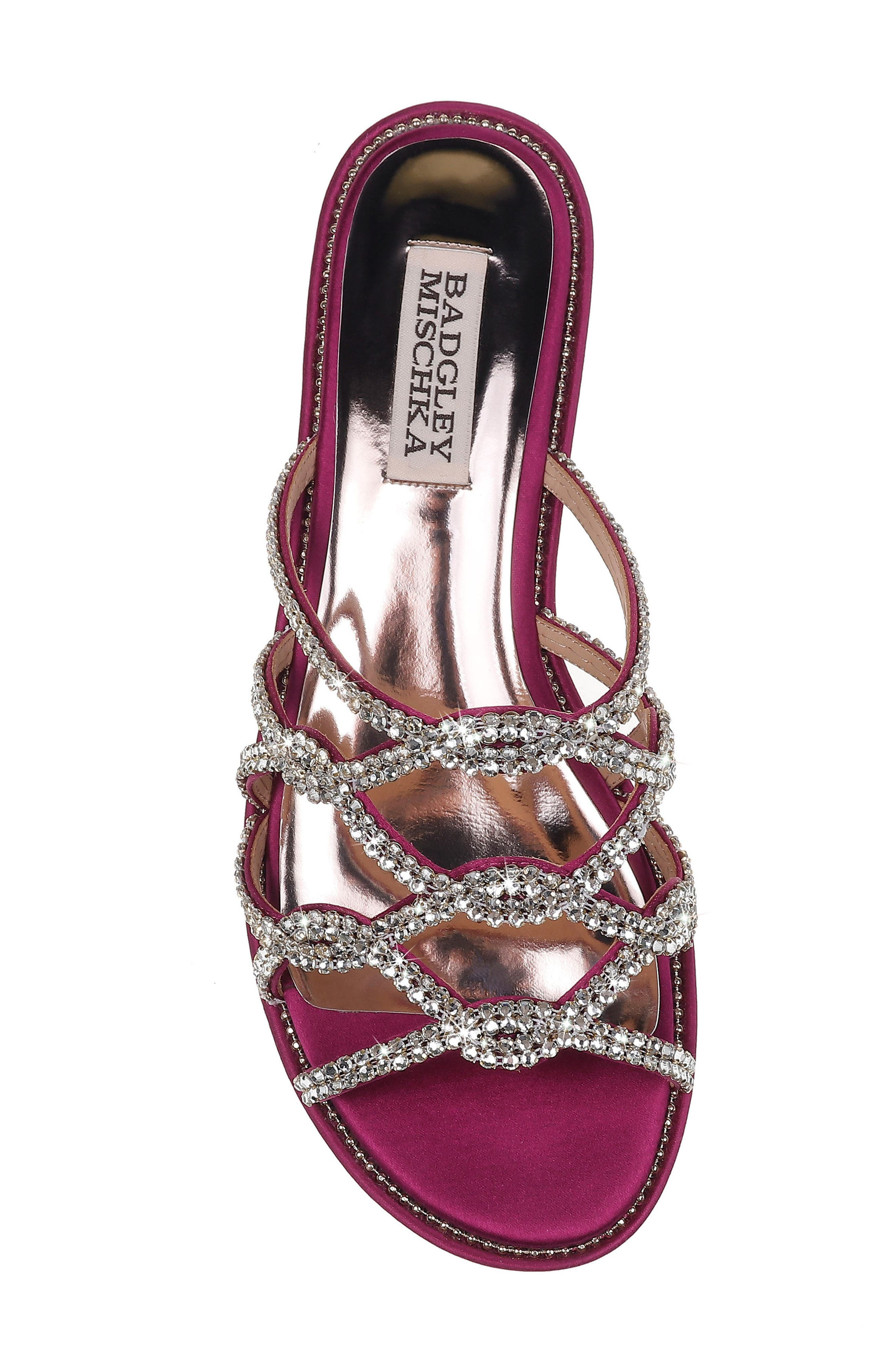 Sofie Strappy Sandal,                             Alternate thumbnail 5, color,                             Mulberry Satin