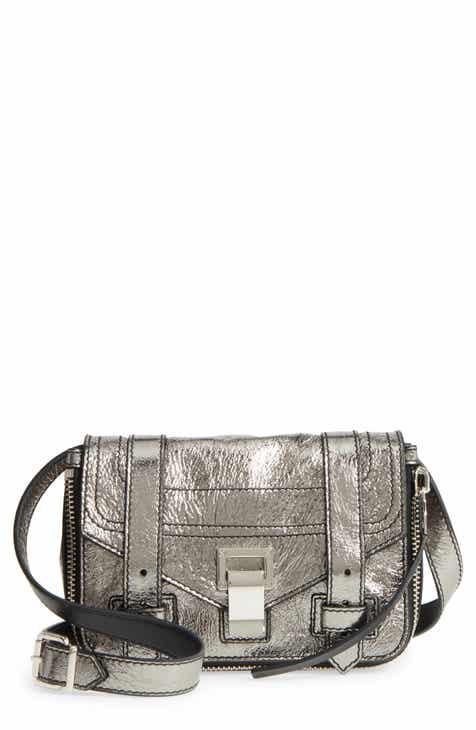 Proenza Schouler Mini Ps1 Metallic Leather Crossbody Bag