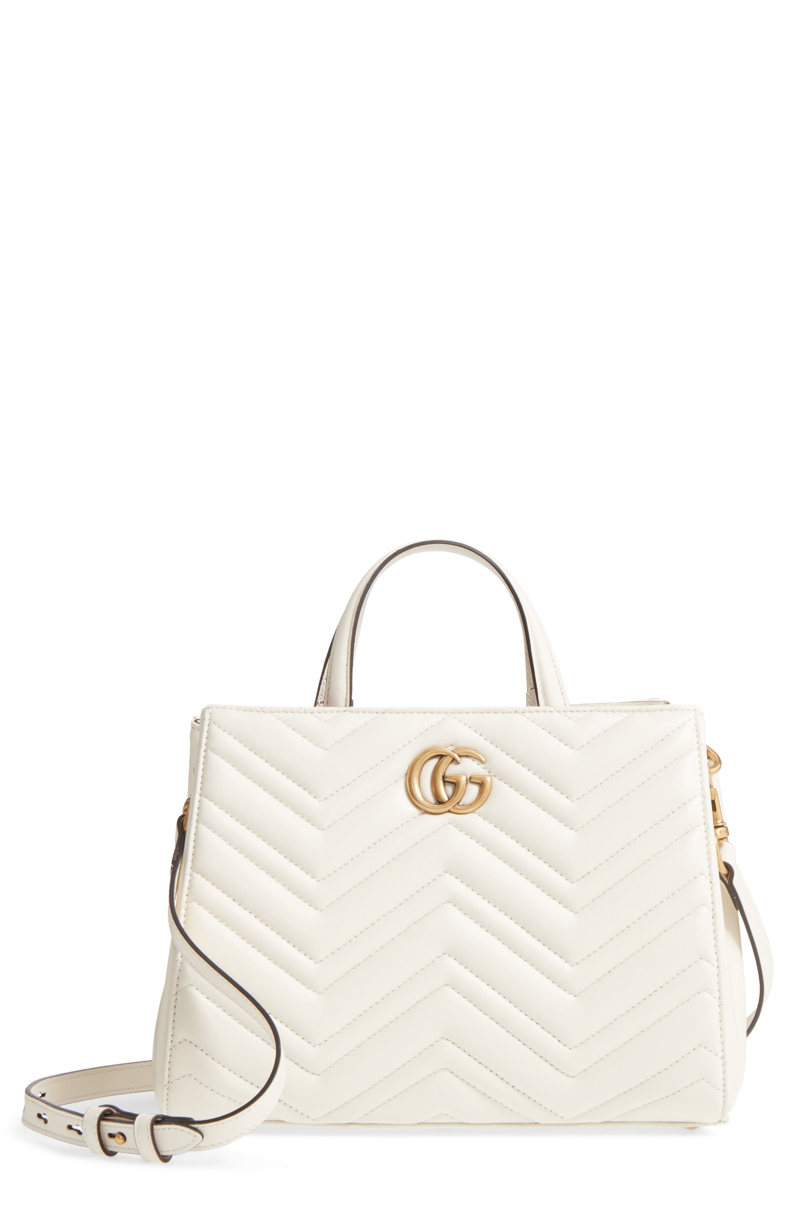Gucci GG Small Marmont 2.0 Matelassé Leather Top Handle Satchel