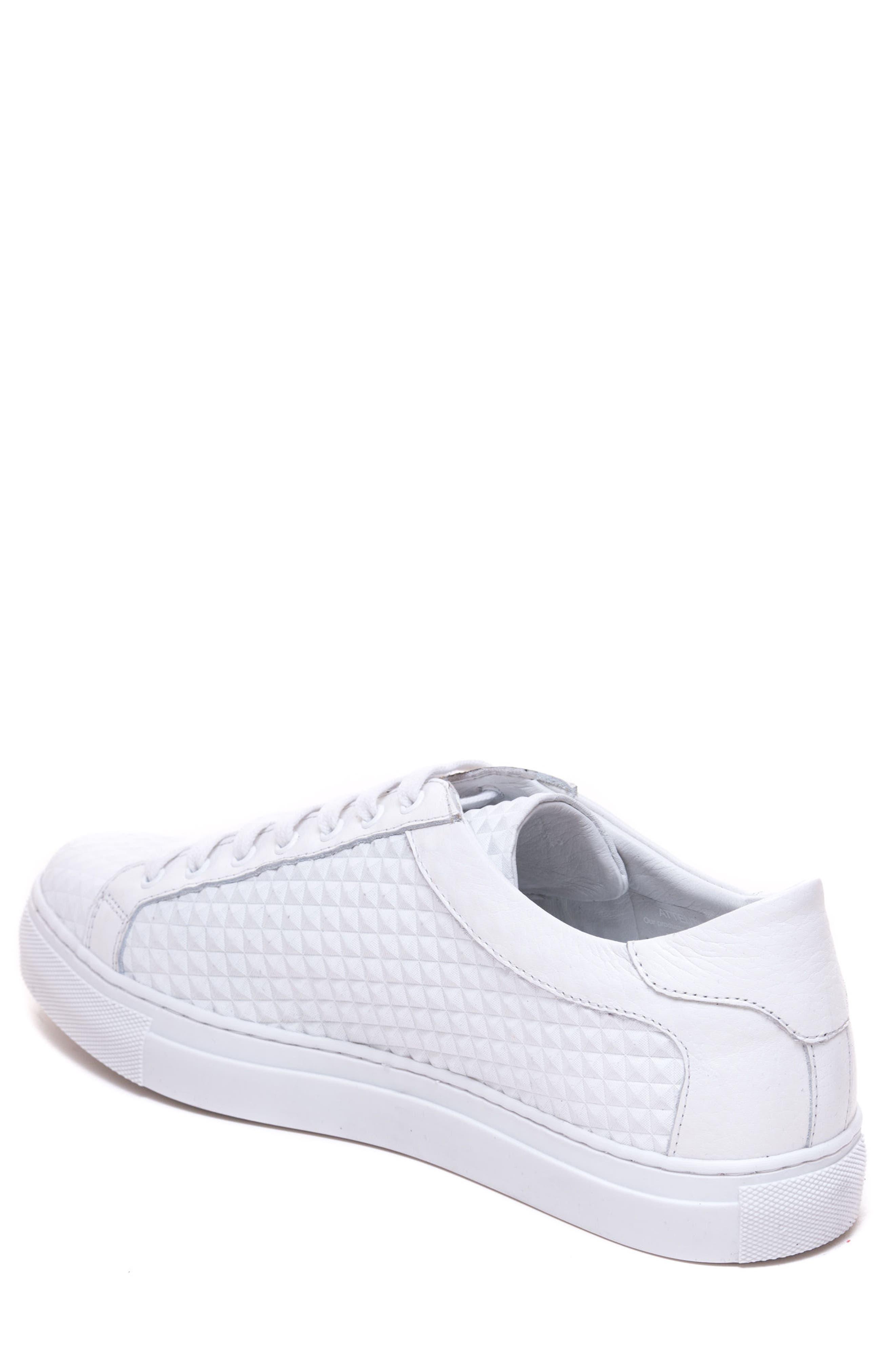 Scott Leather Sneaker,                             Alternate thumbnail 2, color,                             White