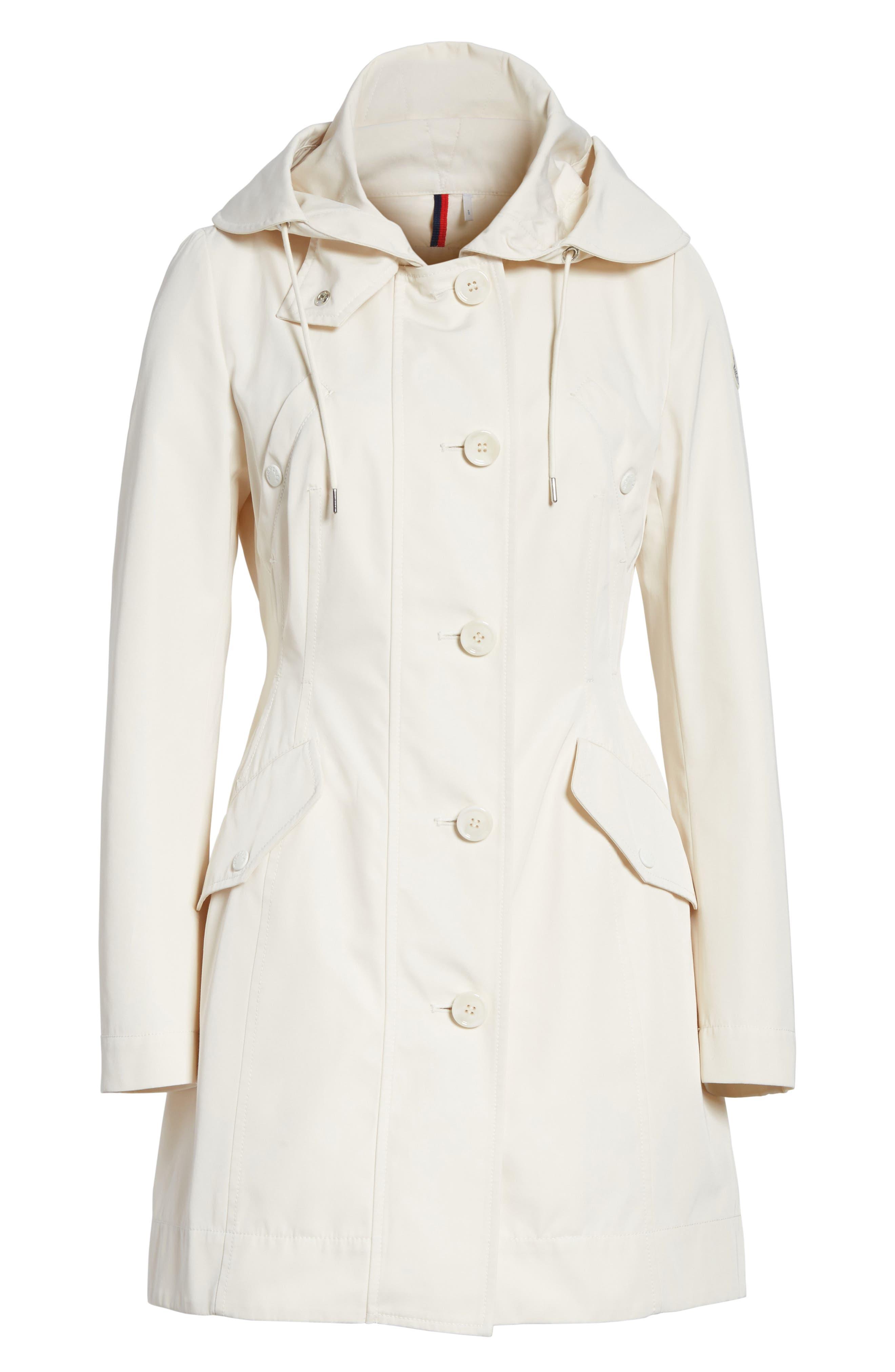 Alternate Image 6  - Moncler Audrey Water Resistant Hooded Raincoat