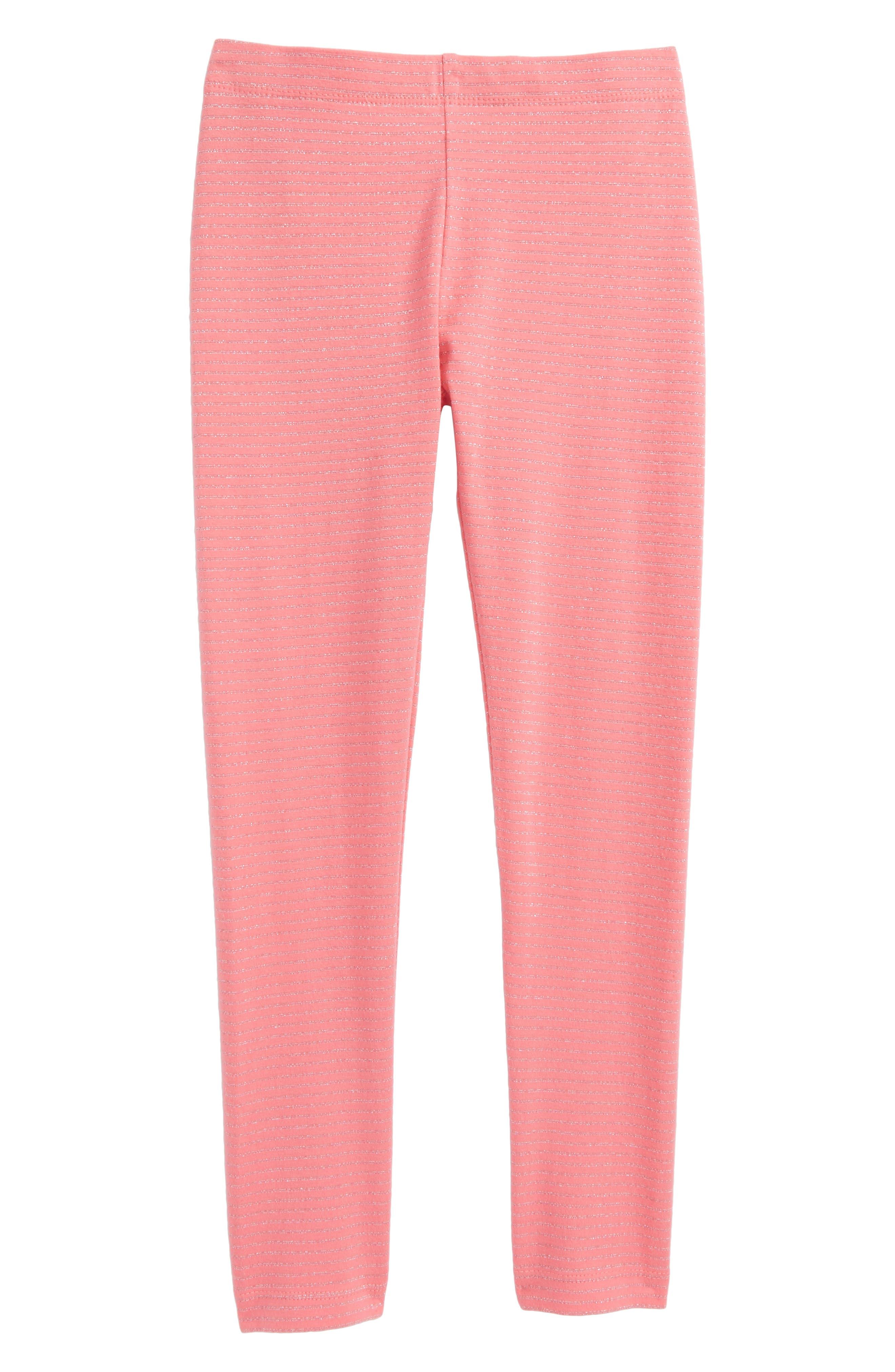 Sparkle Stripe Leggings,                             Main thumbnail 1, color,                             Pink Lemonade Sparkle Stripe