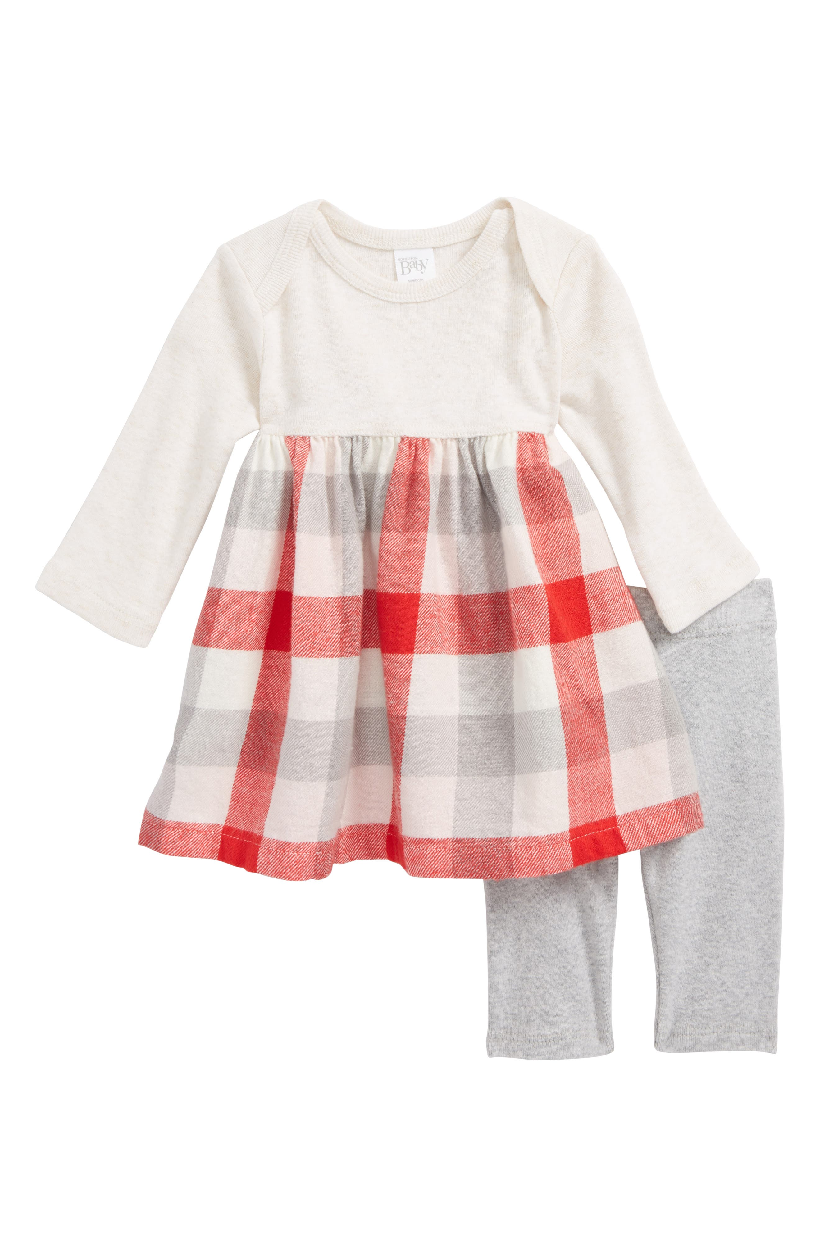 Nordstrom Baby Woven Dress & Leggings Set (Baby Girls)