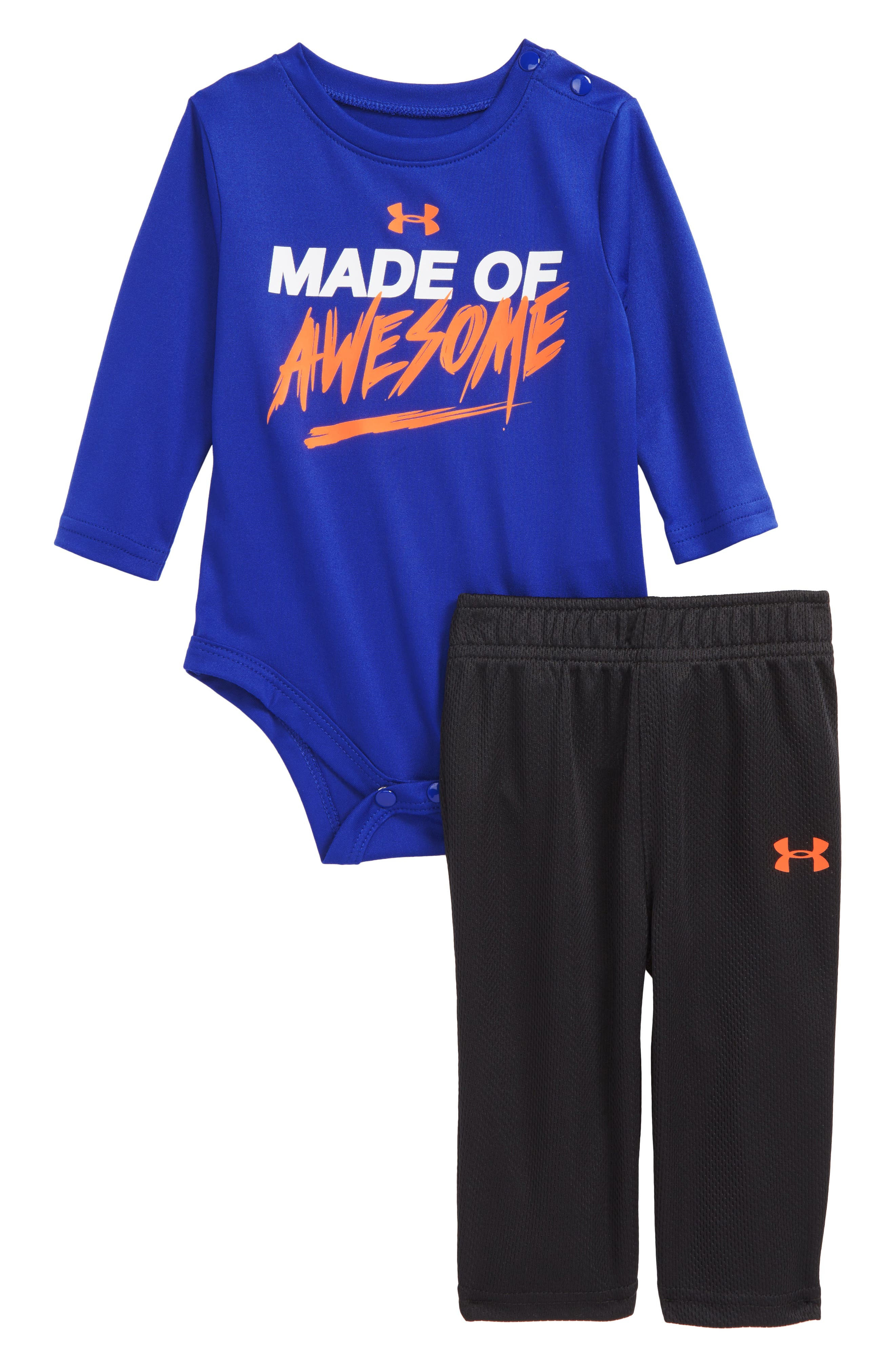 under armour shirts for boys. under armour made of awesome graphic bodysuit \u0026 sweatpants set (baby boys) shirts for boys