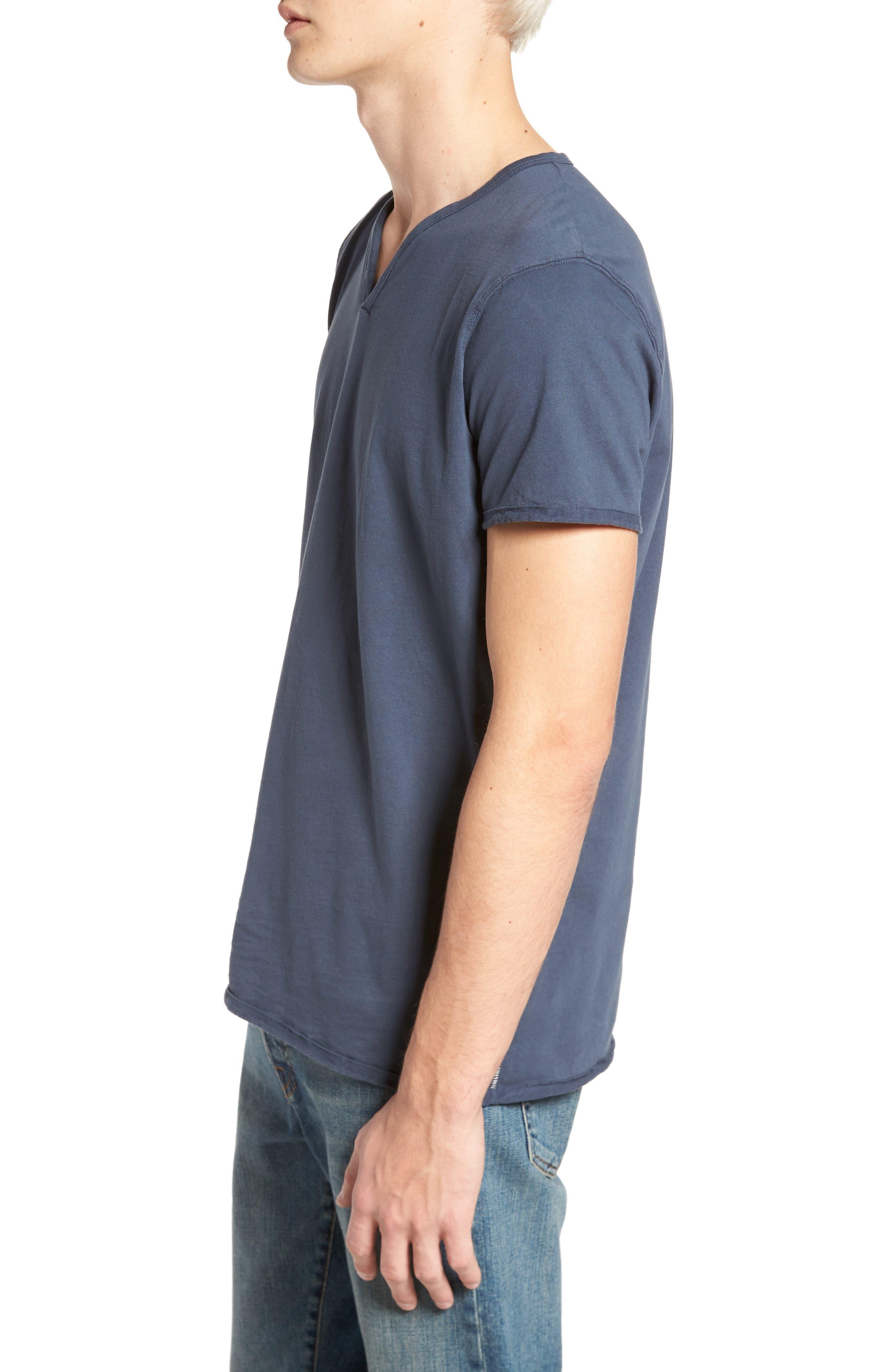 Notch Henley T-Shirt,                             Alternate thumbnail 3, color,                             Vintage Navy