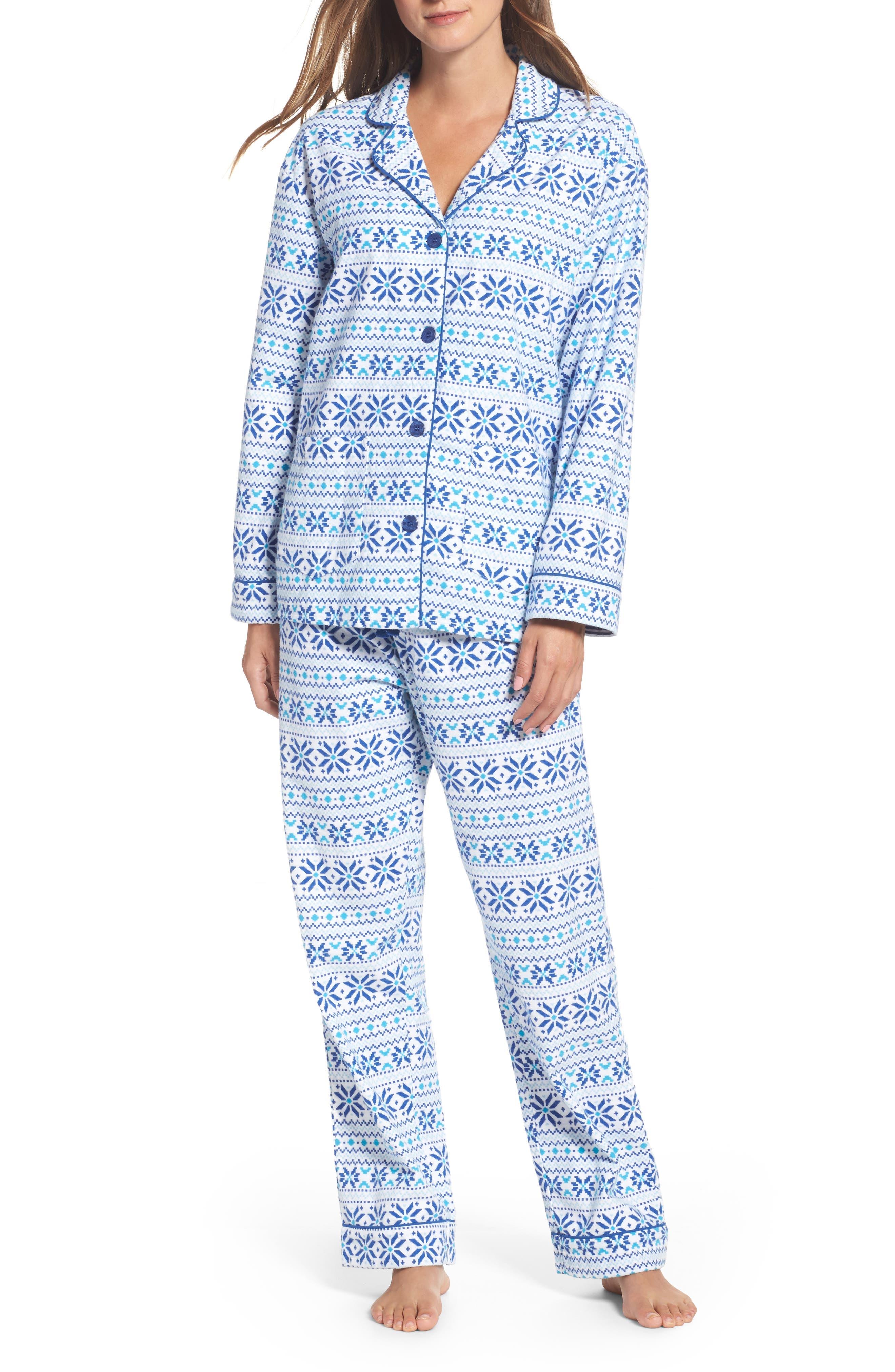 Main Image - PJ Salvage Print Flannel Pajamas