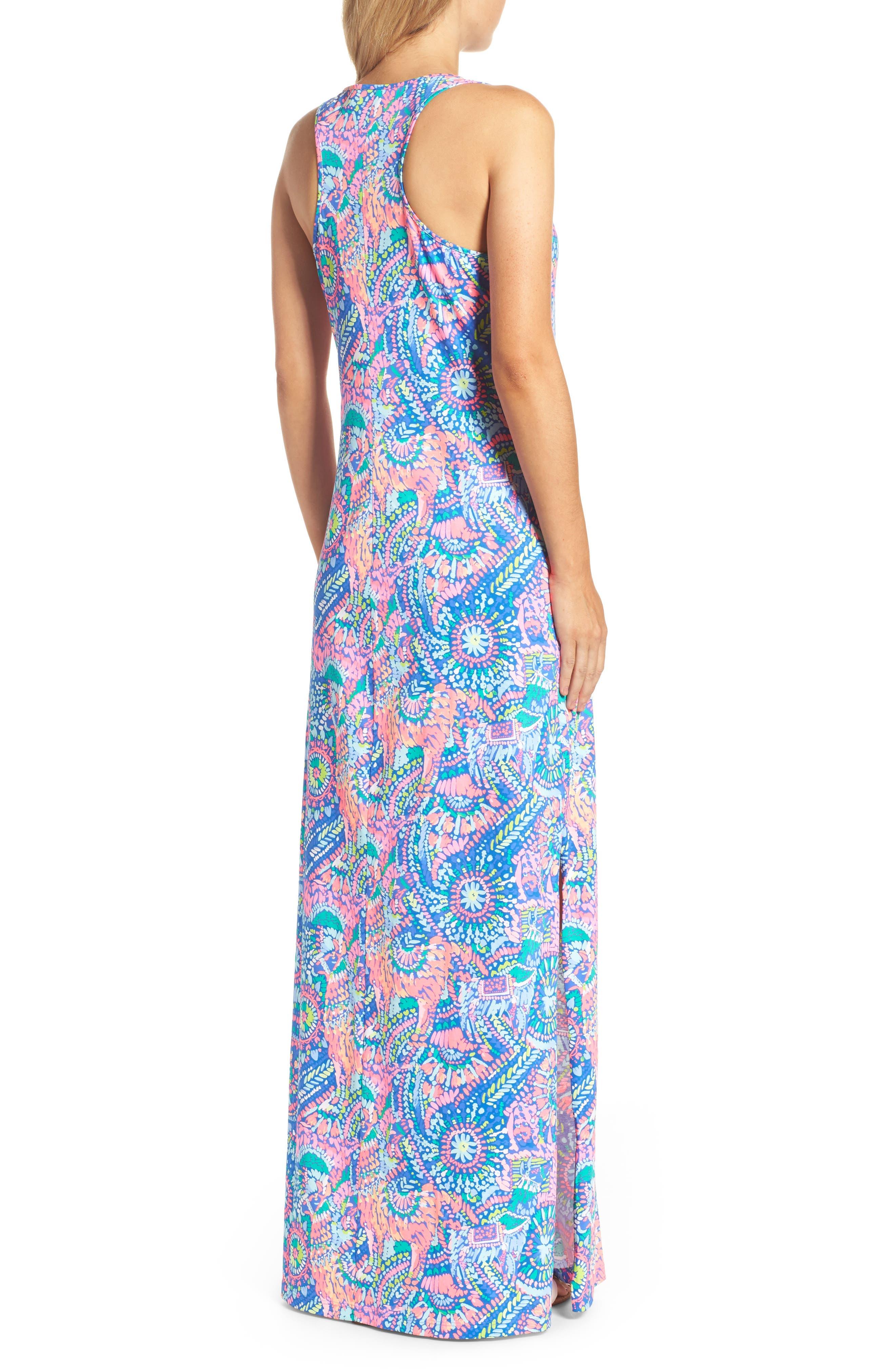 Kerri Maxi Dress,                             Alternate thumbnail 2, color,                             Multi Llama