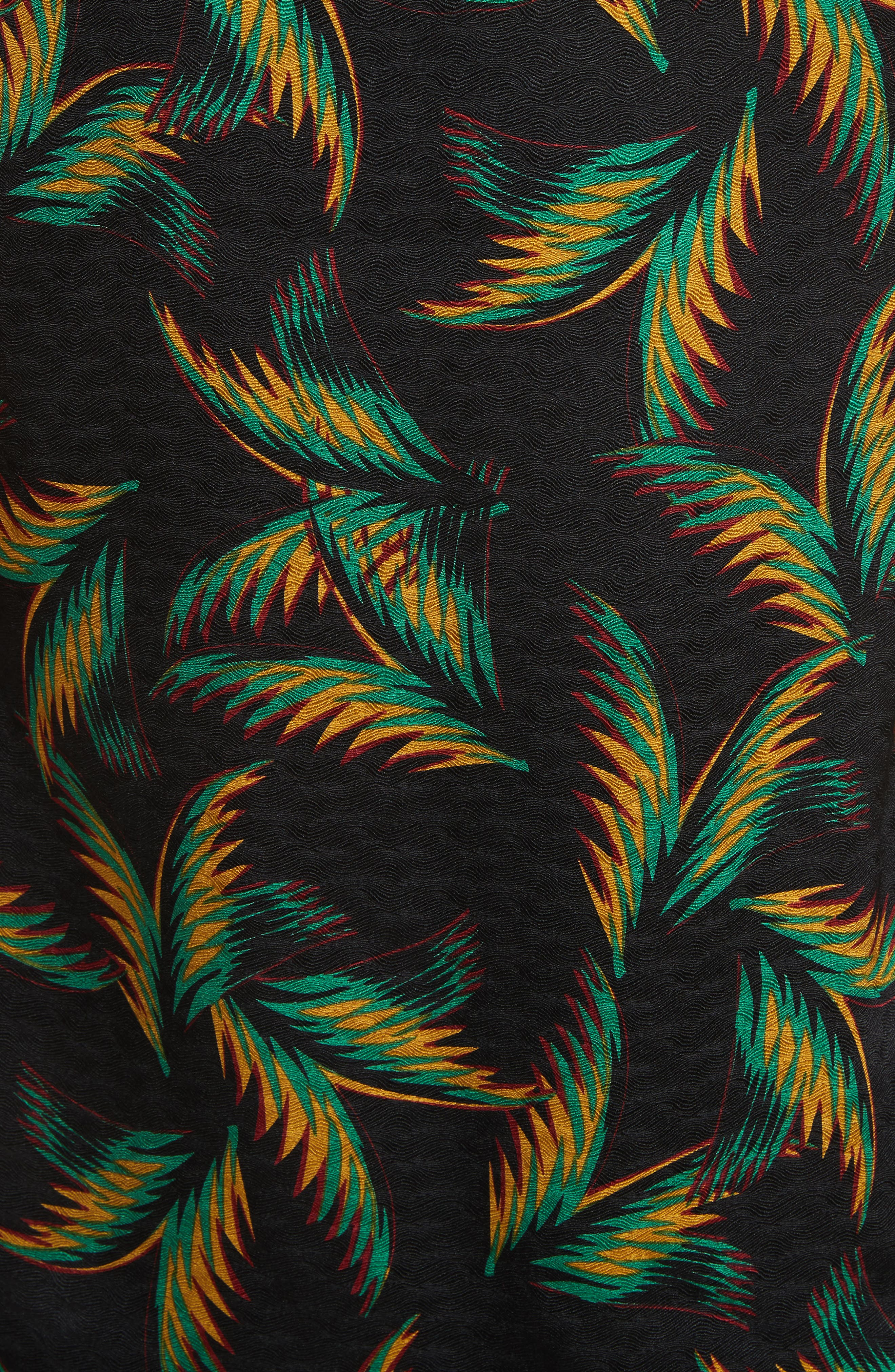 Alternate Image 5  - A.L.C. Leda Palm Jacquard Silk Halter Top