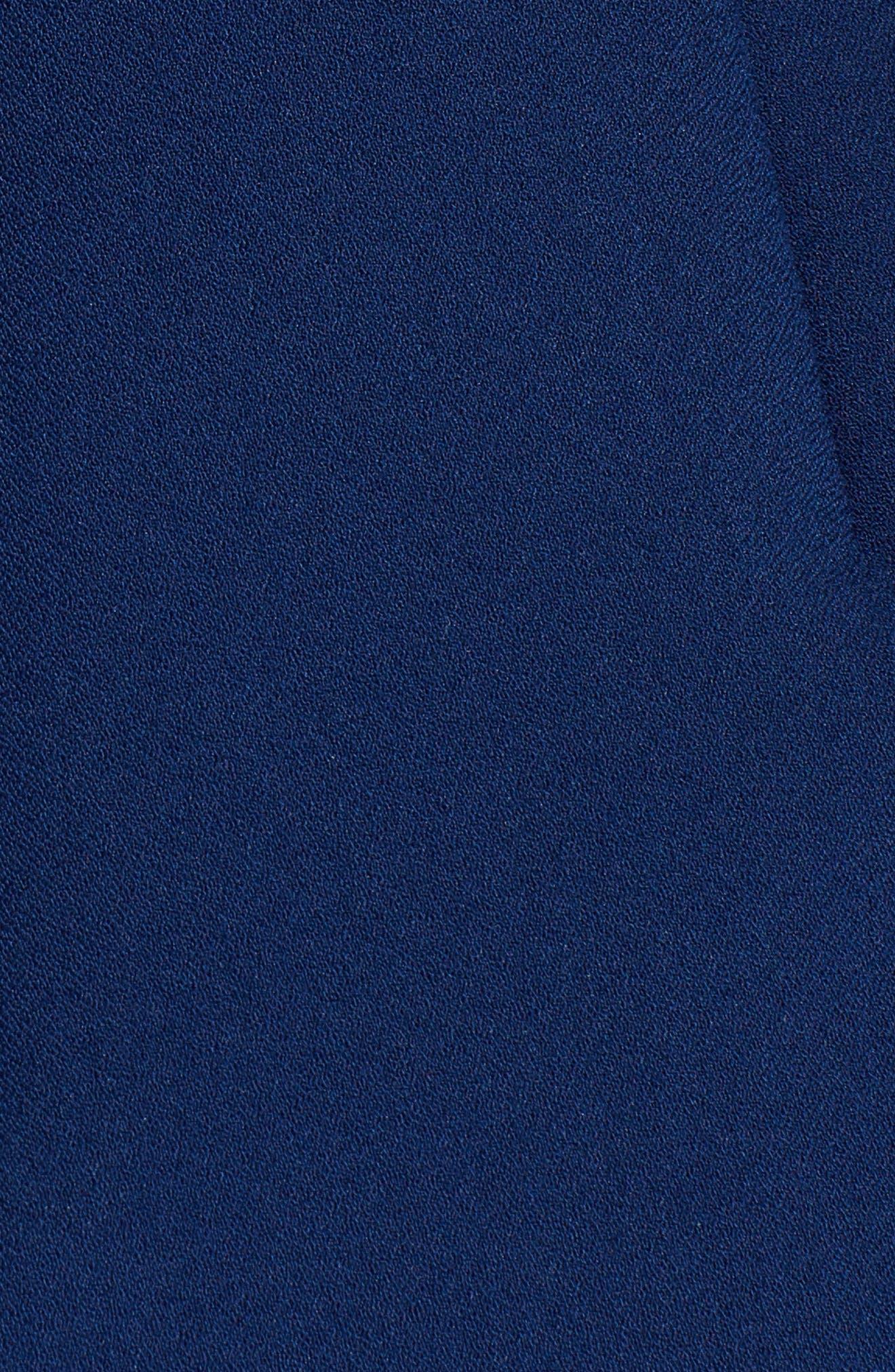 Ruffle Trim Dress,                             Alternate thumbnail 5, color,                             Navy 89