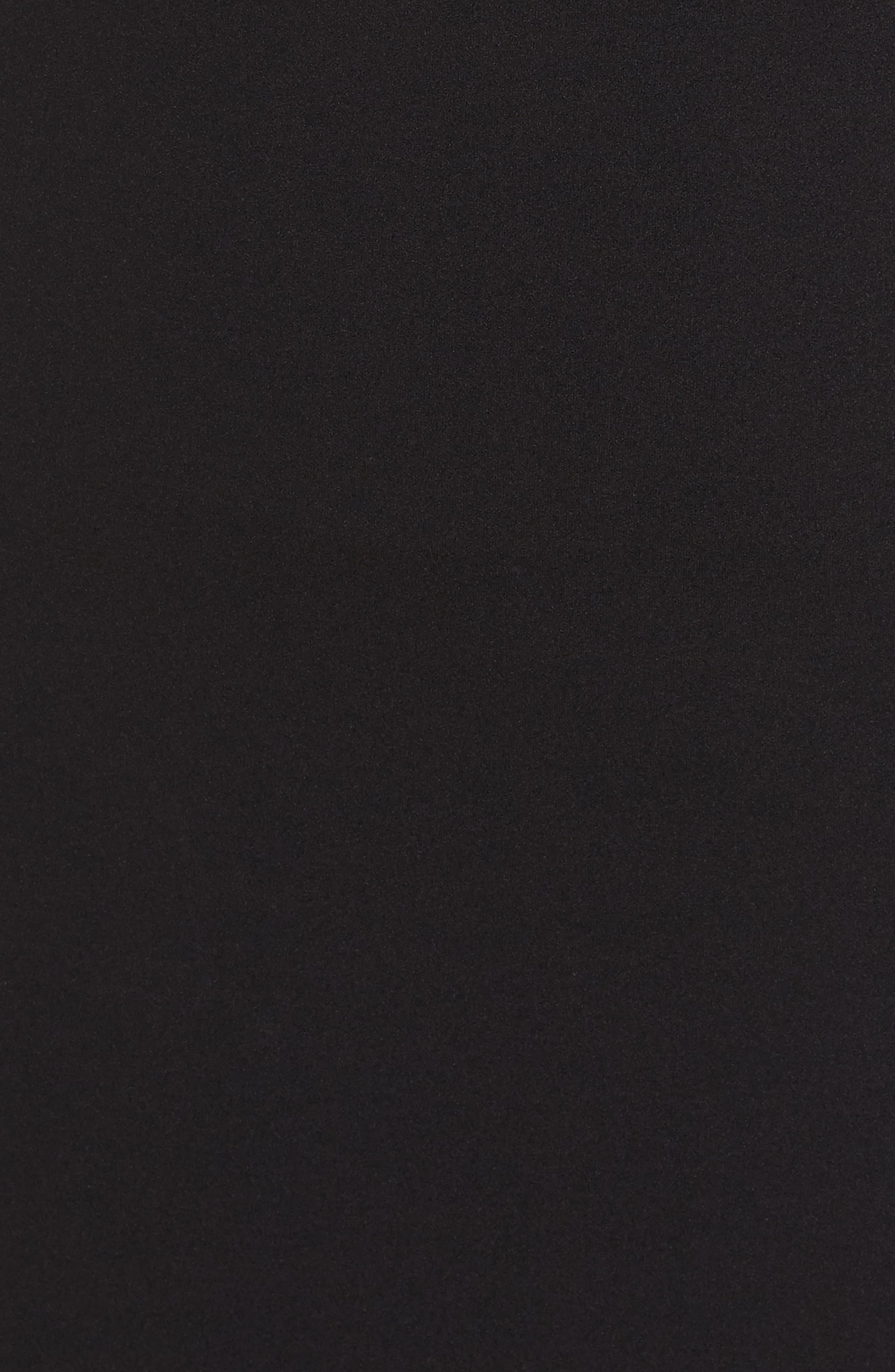 Pintuck Crepe Gown,                             Alternate thumbnail 5, color,                             Black