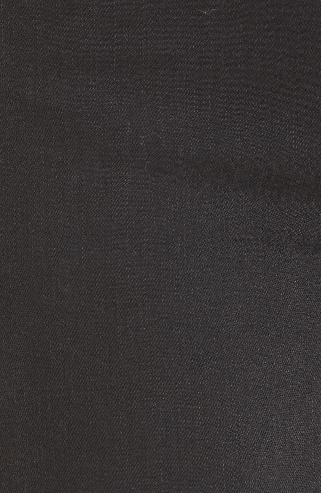 Transcend - Verdugo Ankle Skinny Jeans,                             Alternate thumbnail 6, color,                             Black Fog Super Distressed