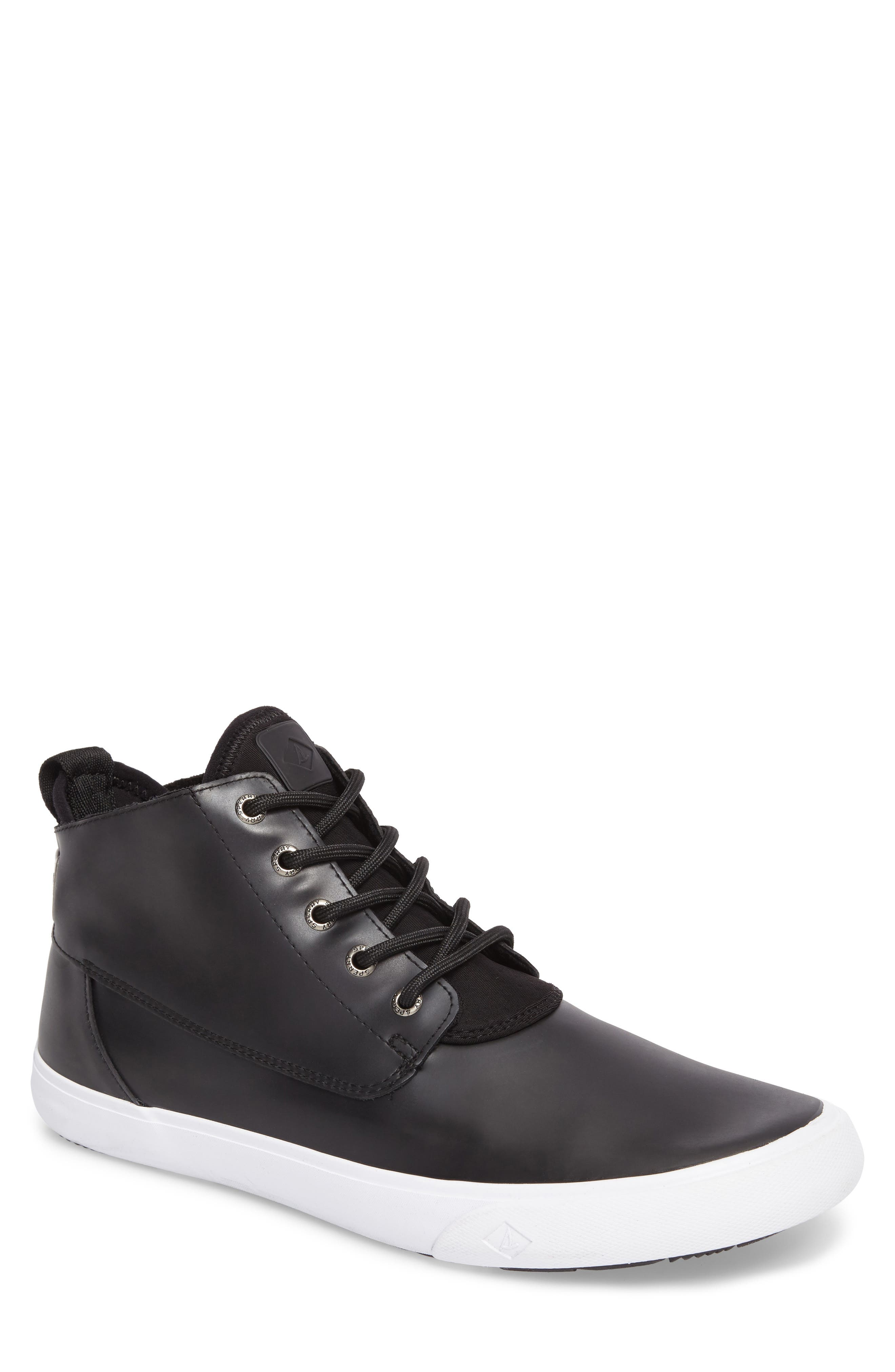 Cutwater Chukka Boot,                         Main,                         color, Black Leather