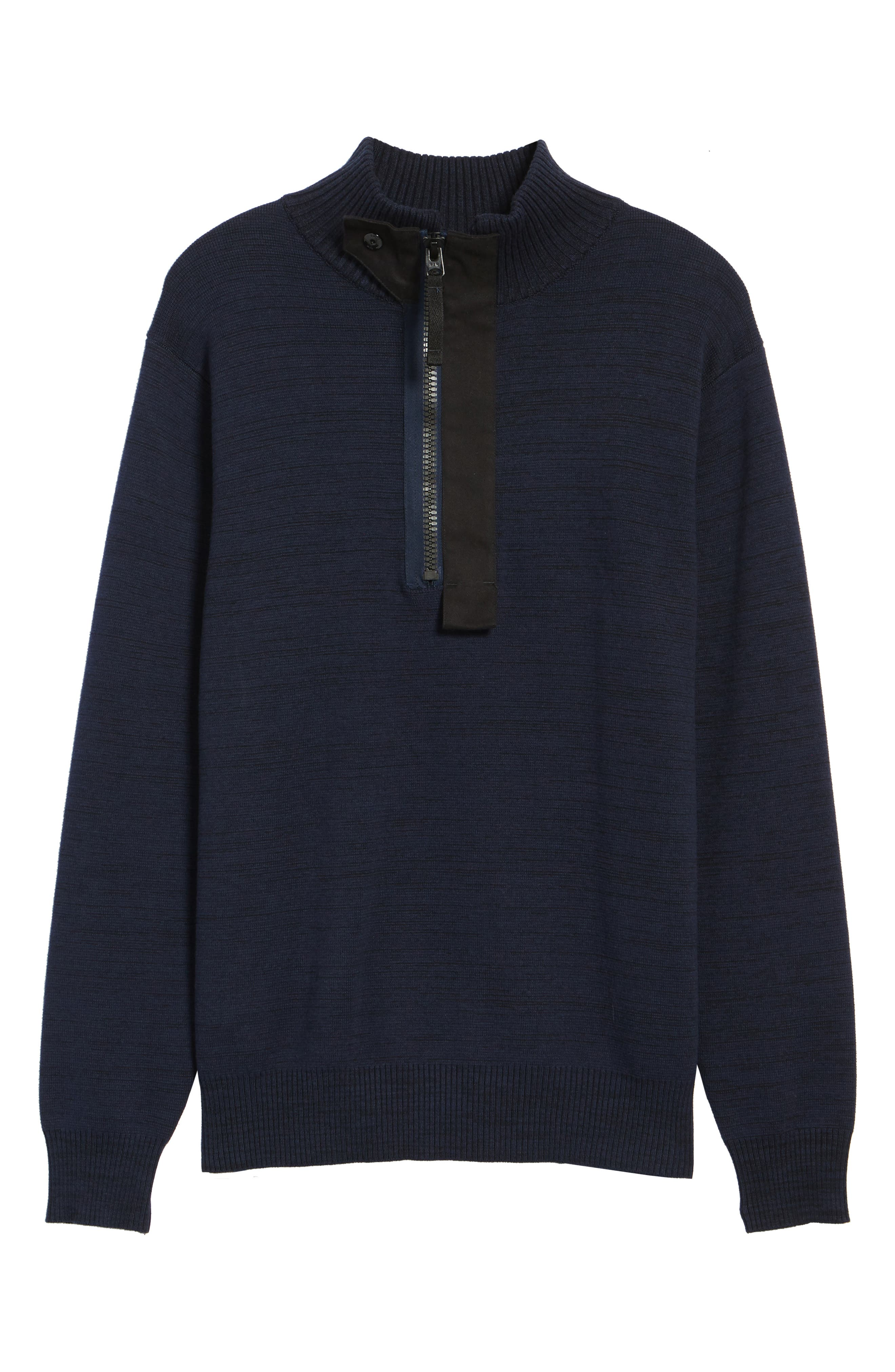Empral Half-Zip Sweater,                             Alternate thumbnail 6, color,                             Blue/ Dark Black